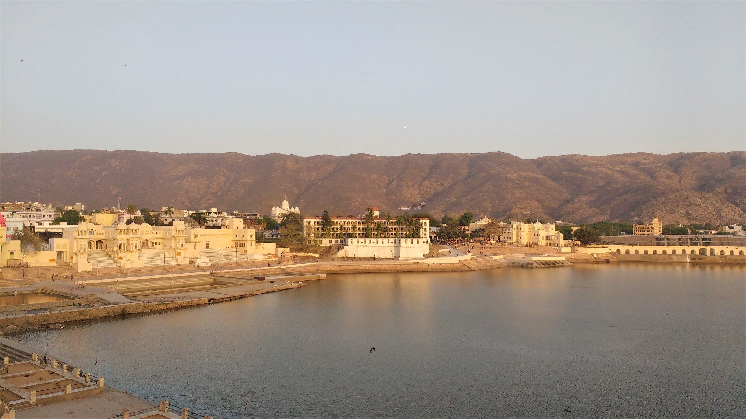 Nice views over the lake in Pushkar.