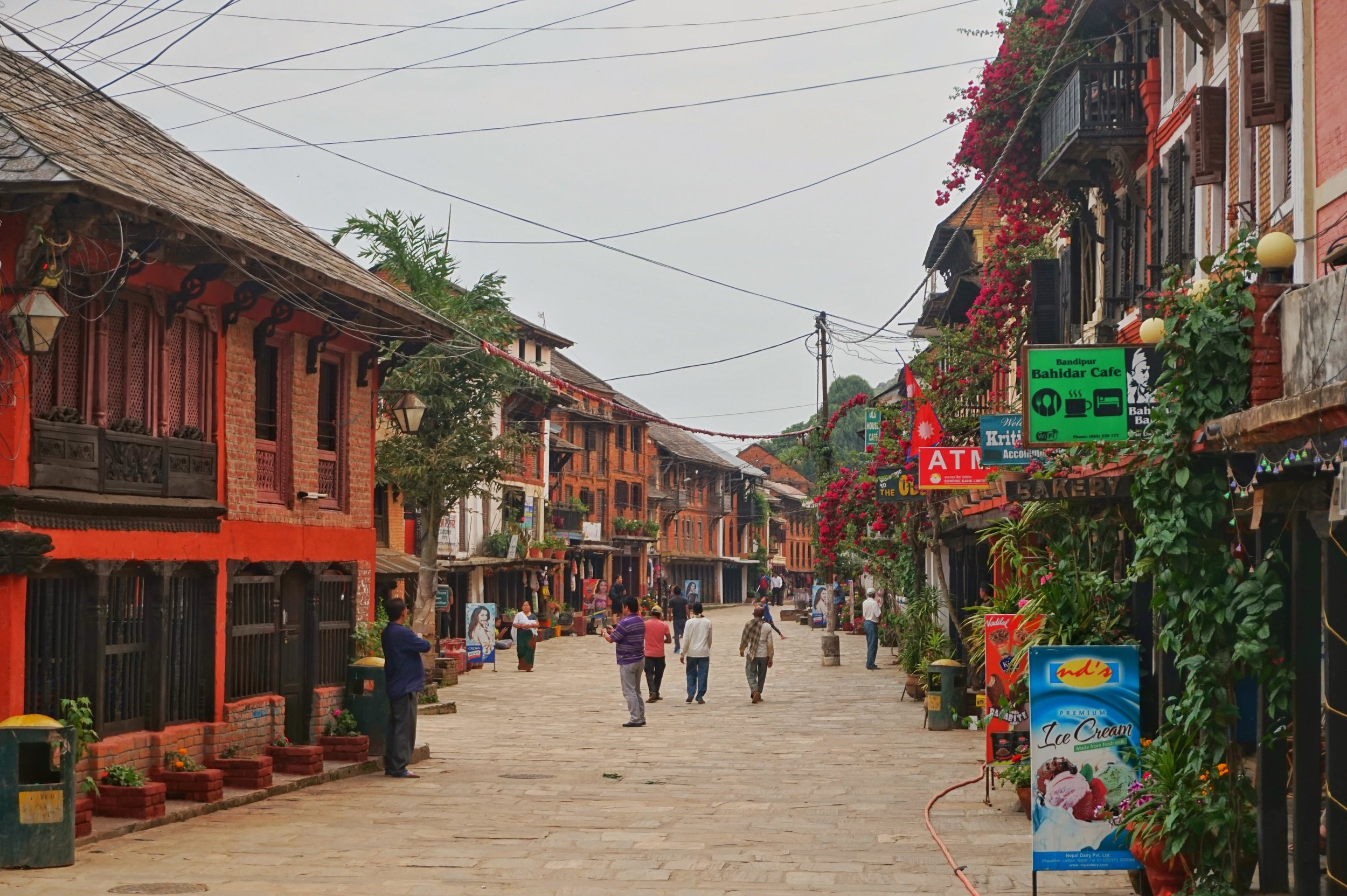 Pedestrian street in Bandipur, Nepal