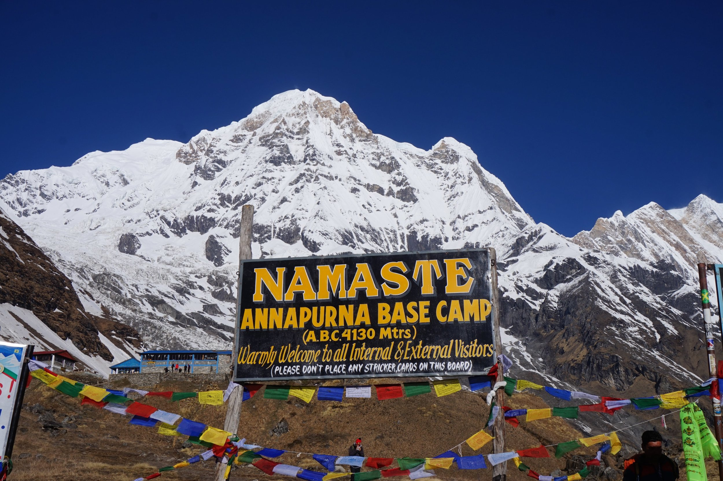 Finally reached the Annapurna Base Camp at 4130 meters!