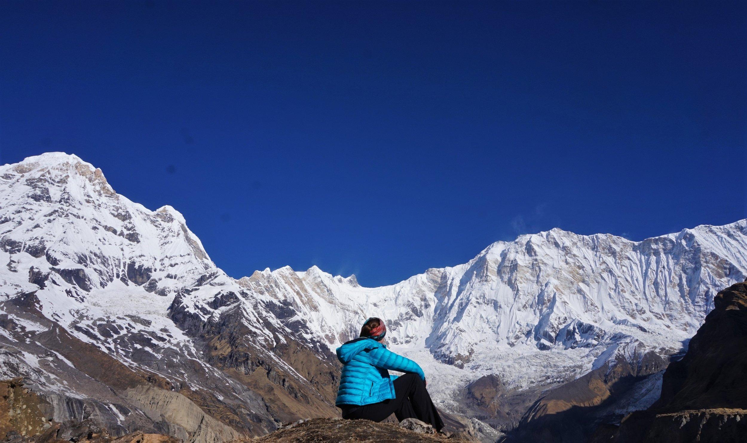 Amazing views of the Himalayas mountain range!