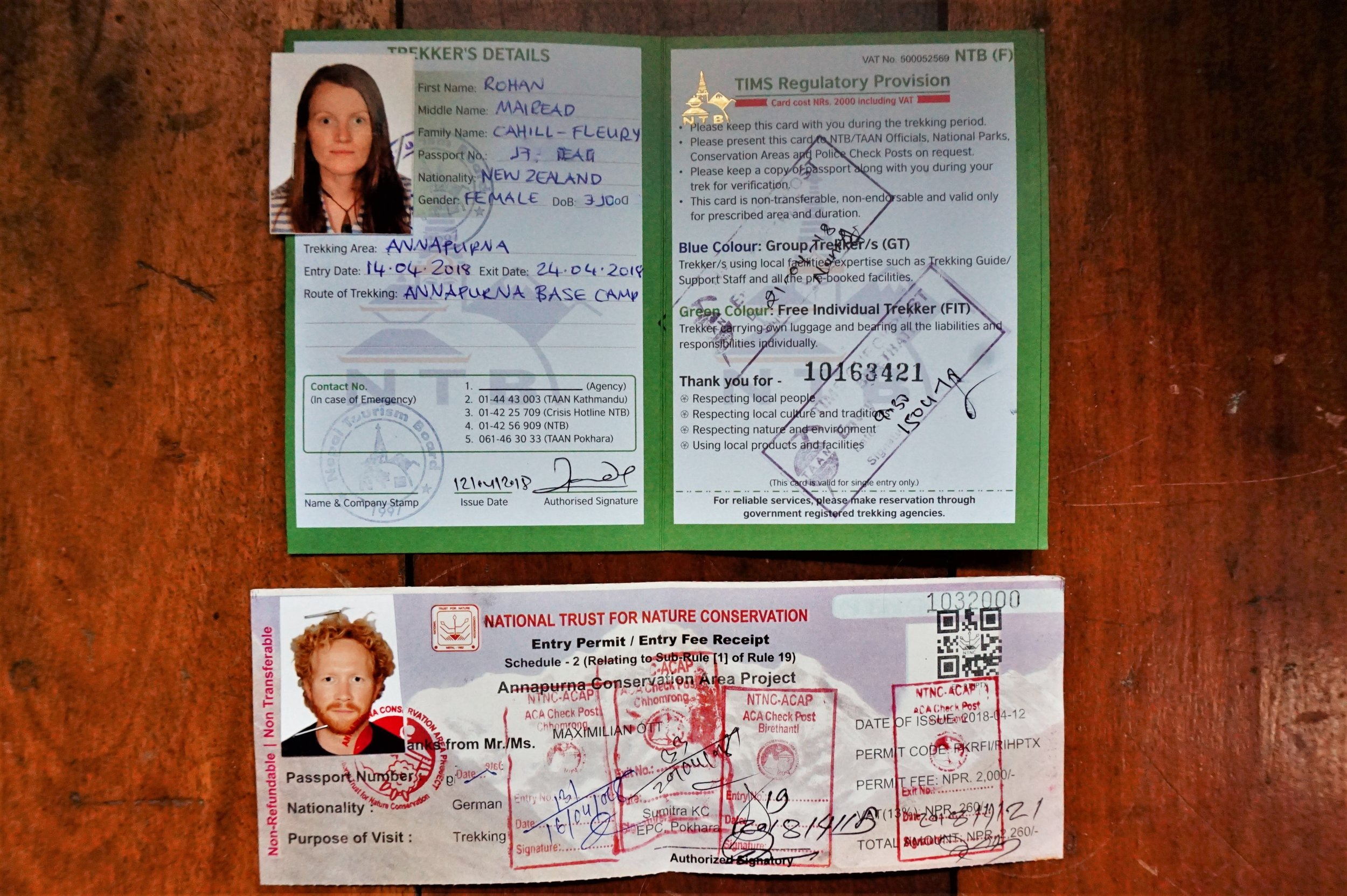 Permits are required for the Annapurna Base Camp trek.