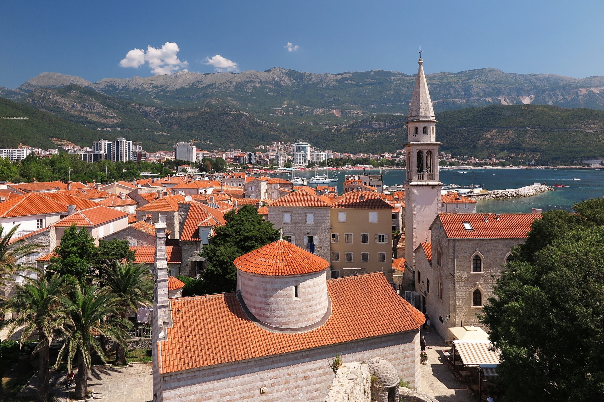 Budva is a lovely coastal town. Great place to visit in Montengro for some beach time.