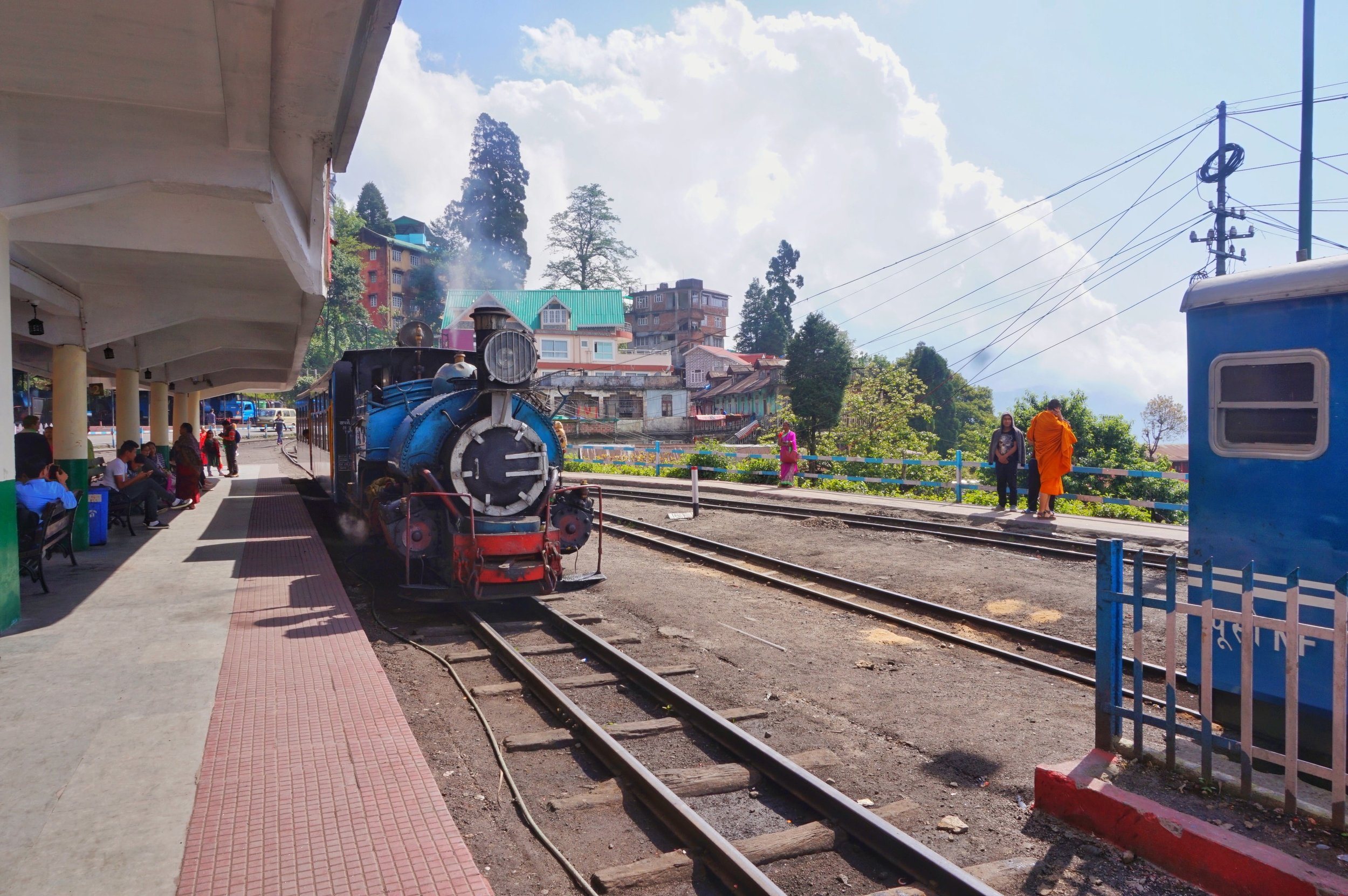 The railway station with its old steam engines is one of the best places to visit in Darjeeling.