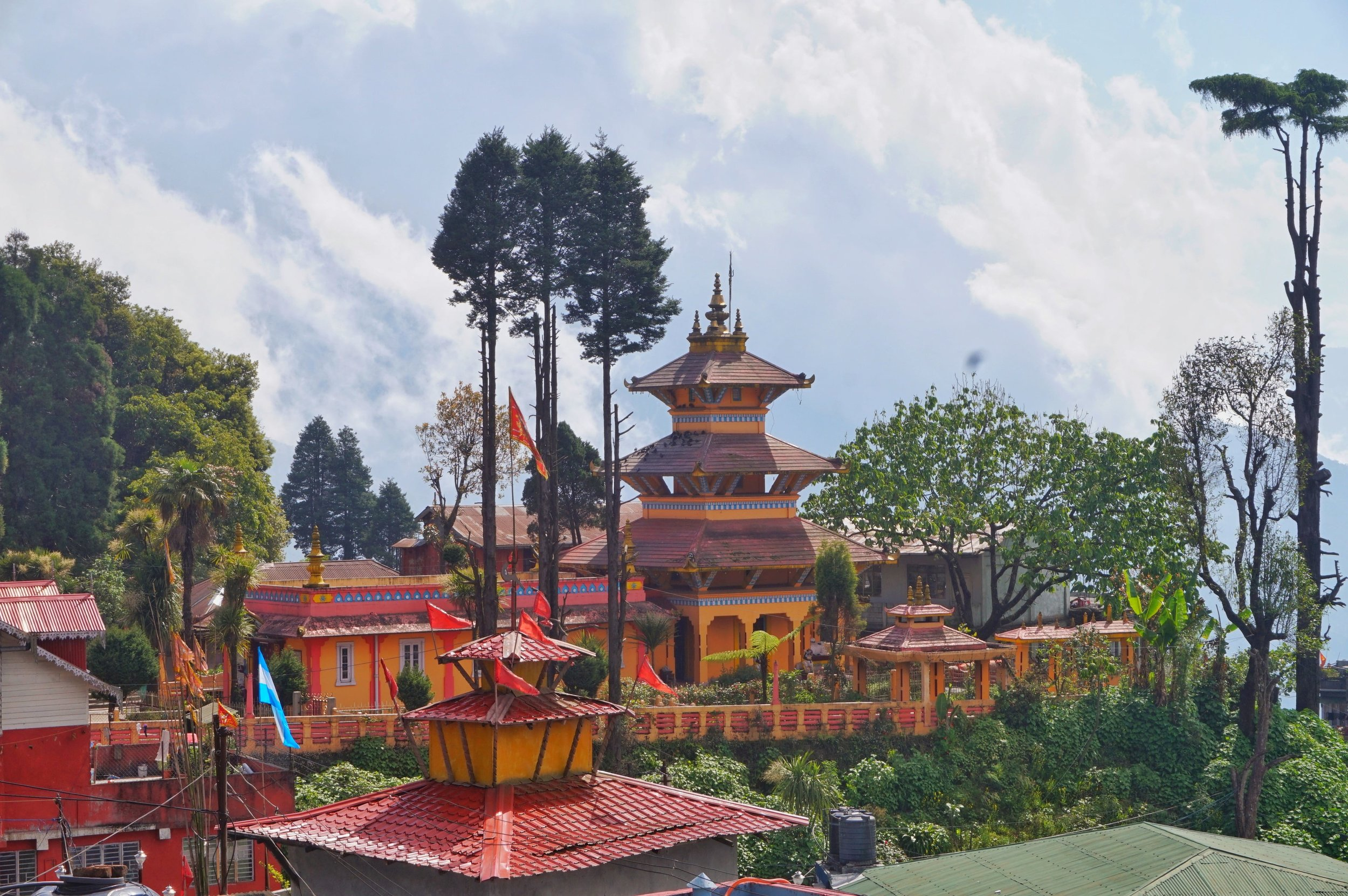 Beautiful Buddhist temples are a must-see attraction in Darjeeling and the region around.