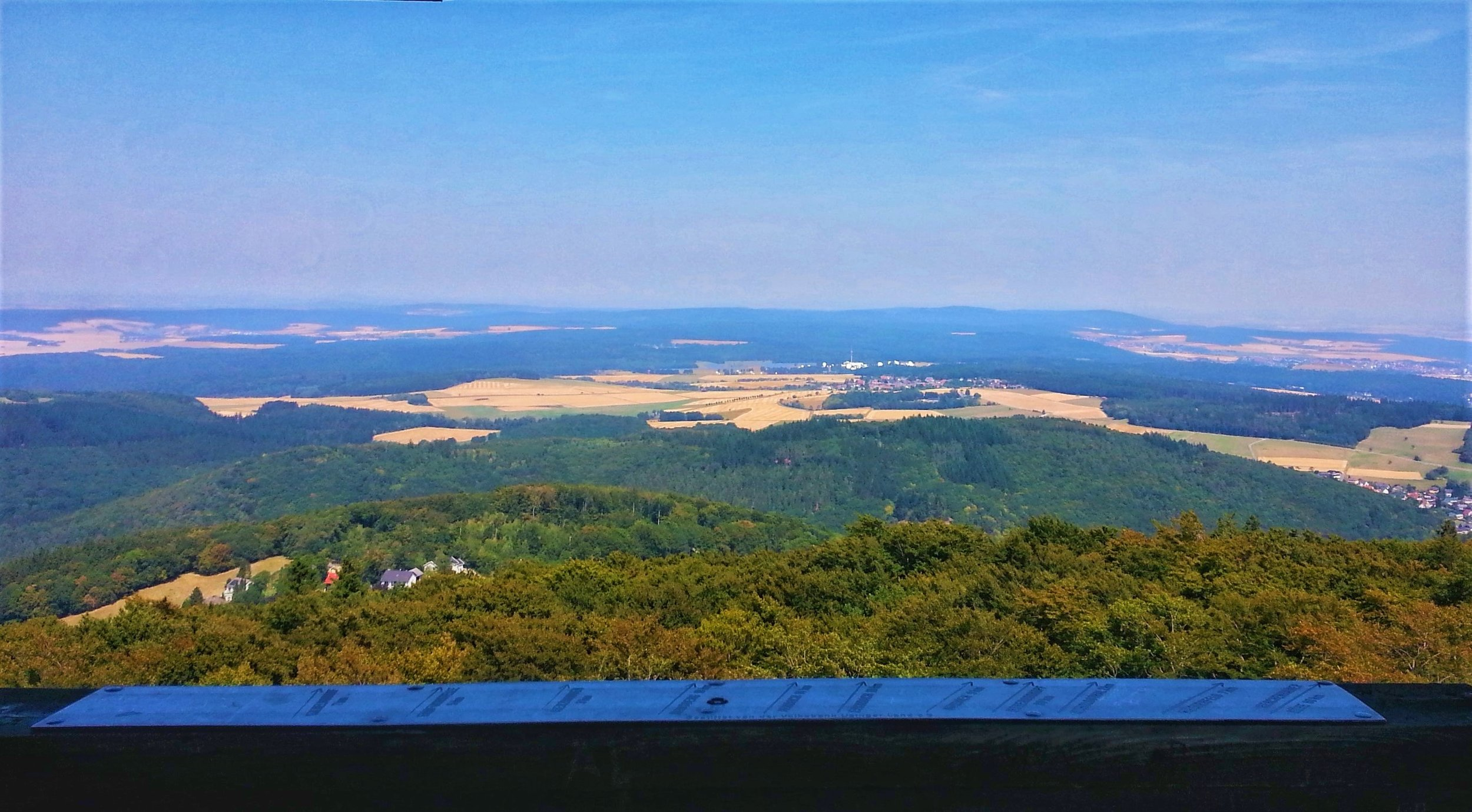 The views of Taunus are easy reached in a day trip from Frankfurt