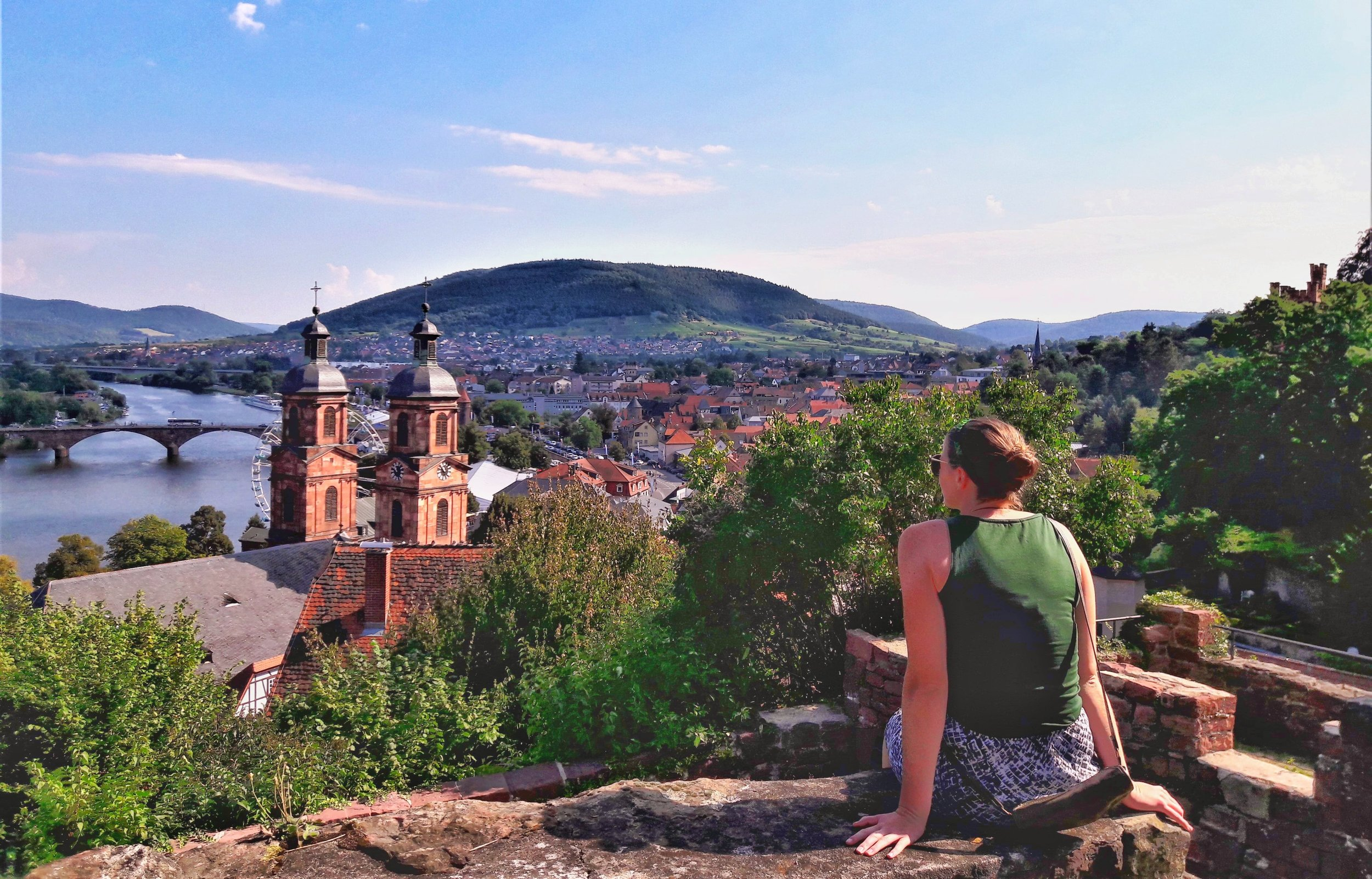 the views over miltenberg, this small town is easy to reach in a day trip from frankfurt