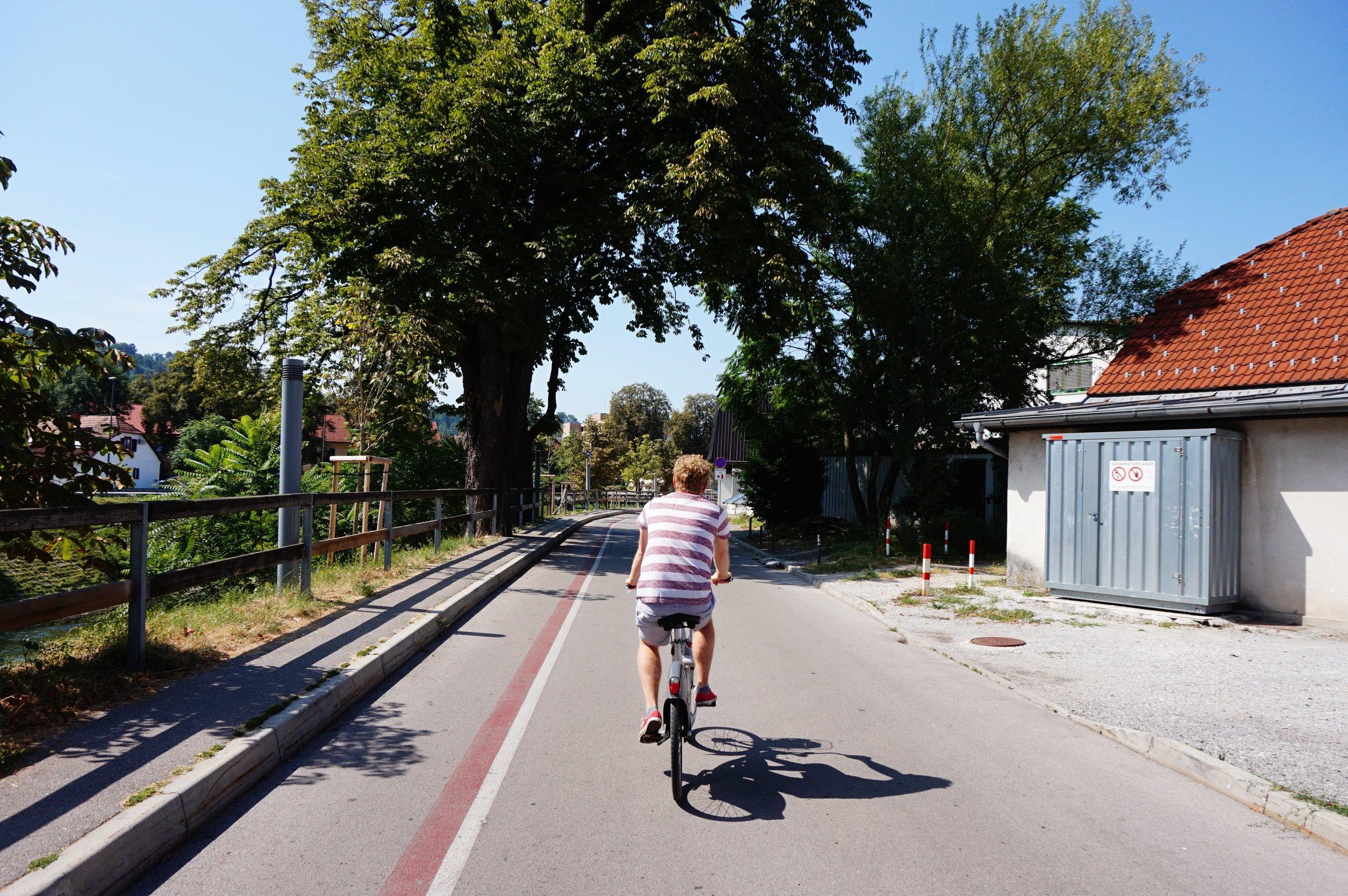 bike rental is the best way to get around Ljubljana