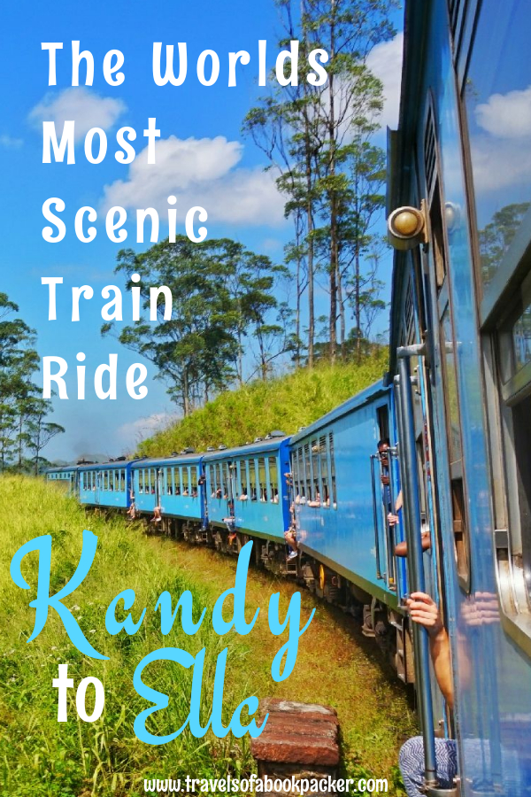 Planning a Trip to Sri Lanka? Don't miss this stunning Sri Lankan train trip! Read about taking the beautiful train journey from Kandy to Ella, Sri Lanka. Hacks for getting a seat on the train to Ella and tips for booking in advance. #kandy #ella #kandytoella #train #srilanka #trainride #besttraintrip