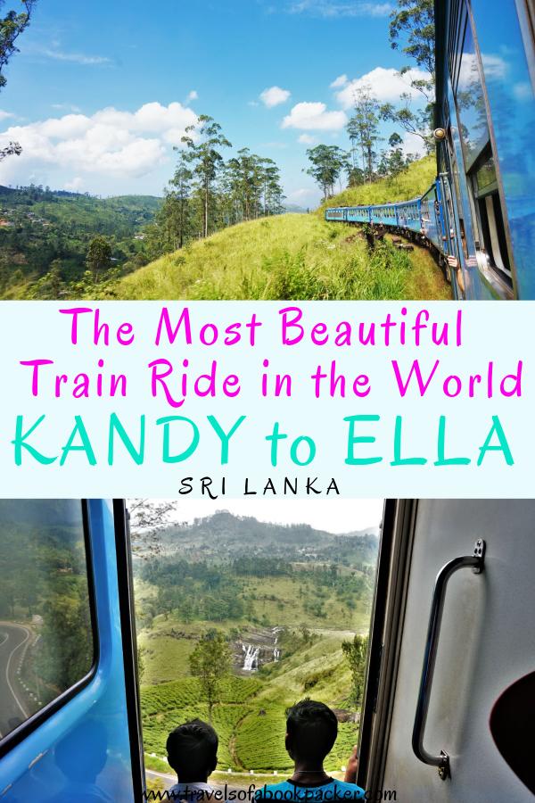Don't miss this stunning Sri Lankan train trip! Information for taking the beautiful train journey from Kandy to Ella, Sri Lanka. #srilanka #asia #kandy #ella #kandytoella #ellatokandy #trainride #kandytoellatrain #mostbeautifultrain
