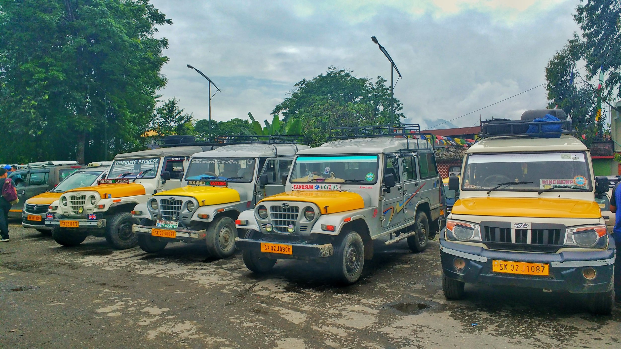 Shared jeeps are the usual transport option during your time backpacking in Sikkim.