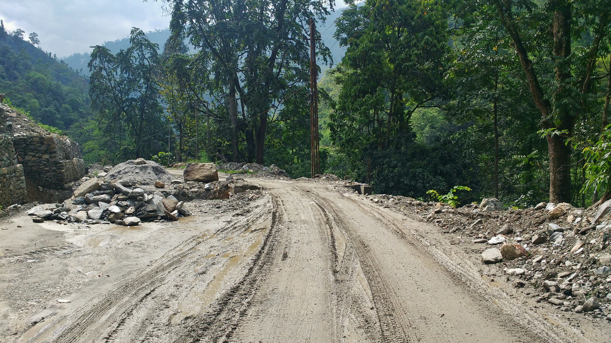 Road conditions are not the best in Sikkim, this will increase your travel time while backpacking in Sikkim, India.