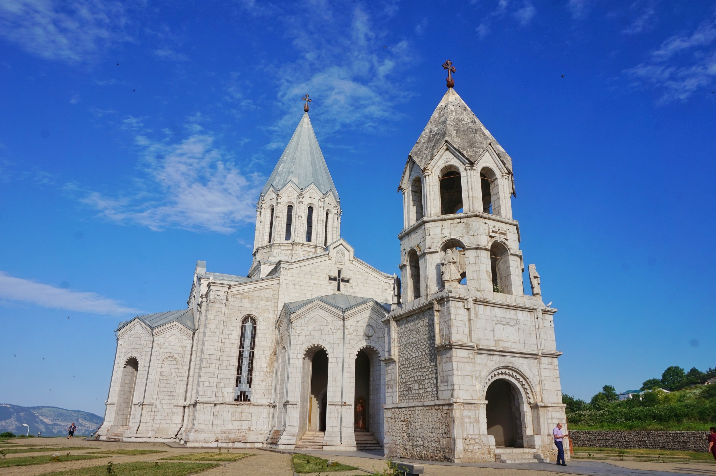 The Cathedral in Shushi is one of the best things to see in Armenia! You should definitely include it in your Armenia travel itinerary.