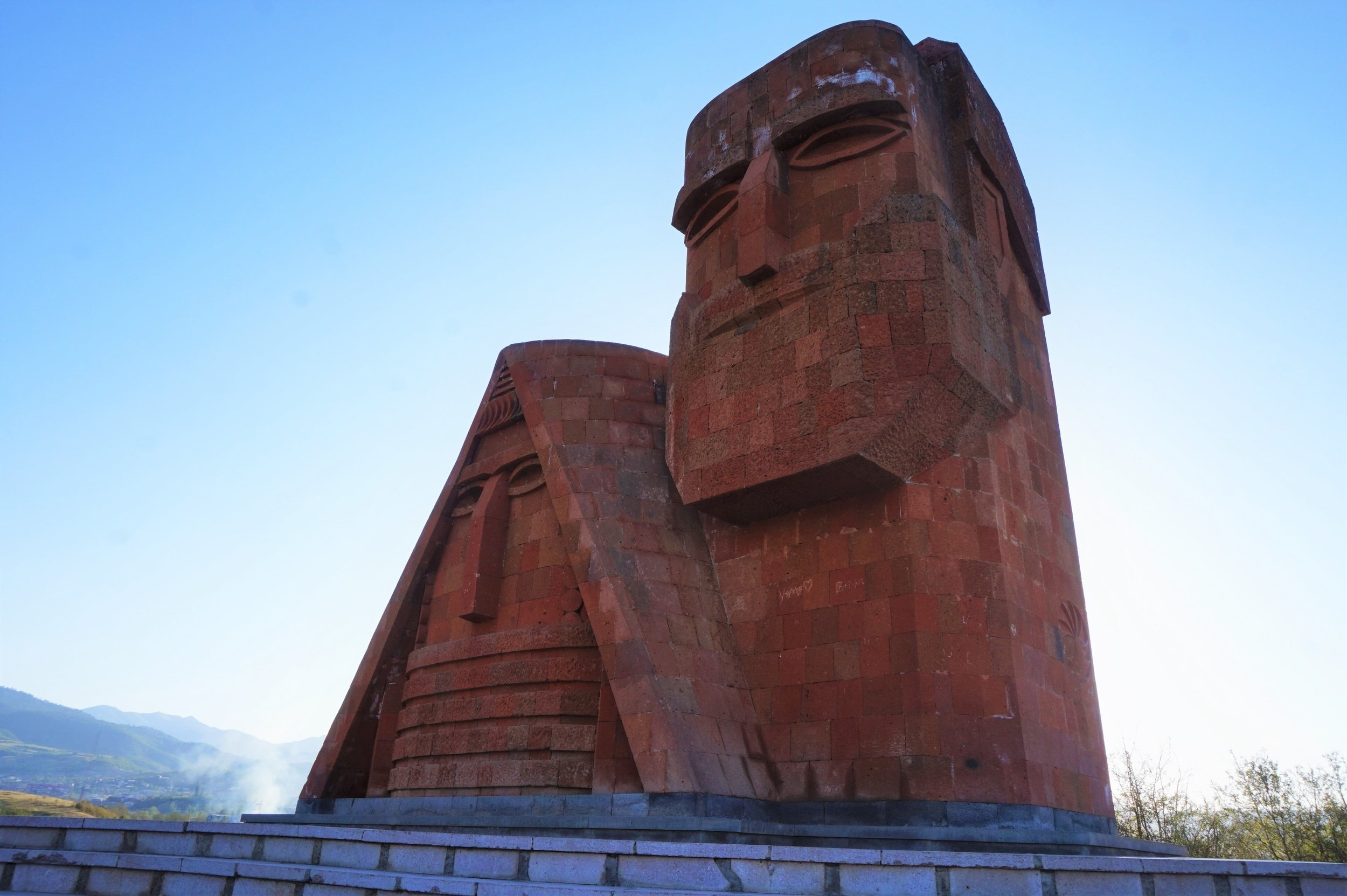 The 'We Are Our Mountains' monument is a must visit in Artsakh. You should include a stop in Stephanakert in your Armenia itinerary!
