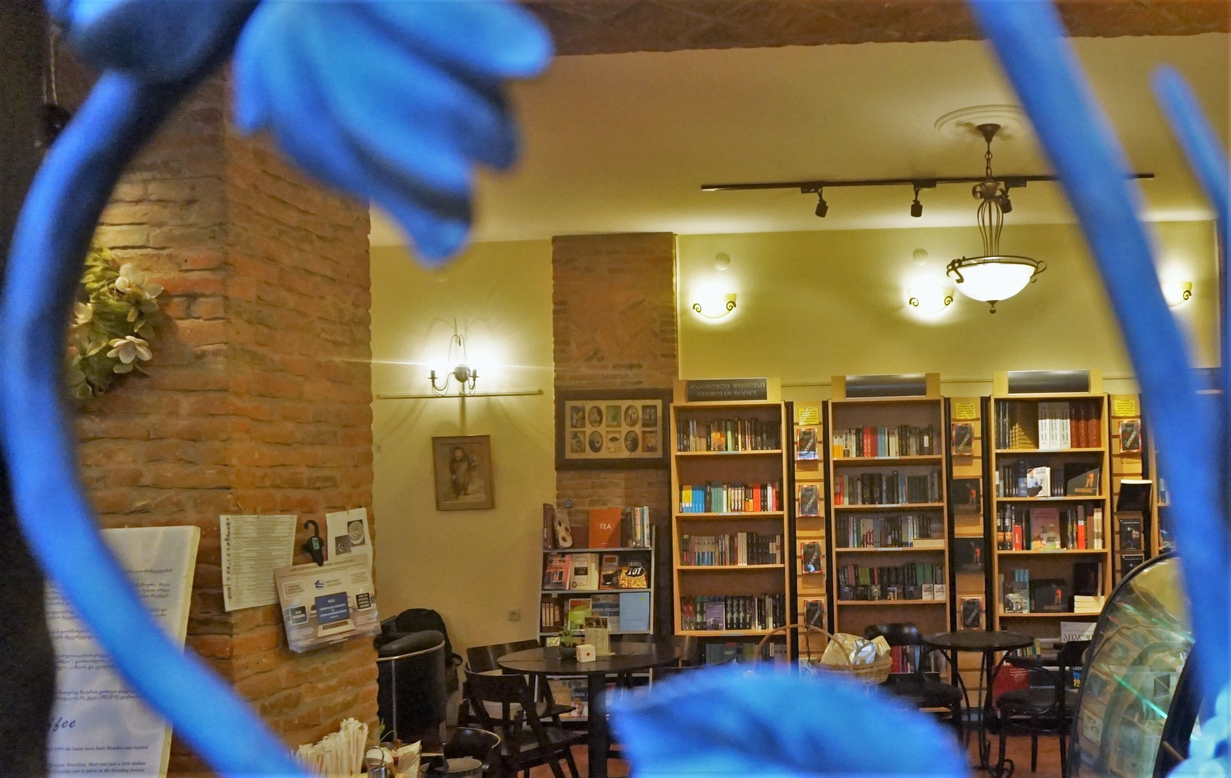 Bookshop Cafe! One of the best Cafes in Tbilisi.
