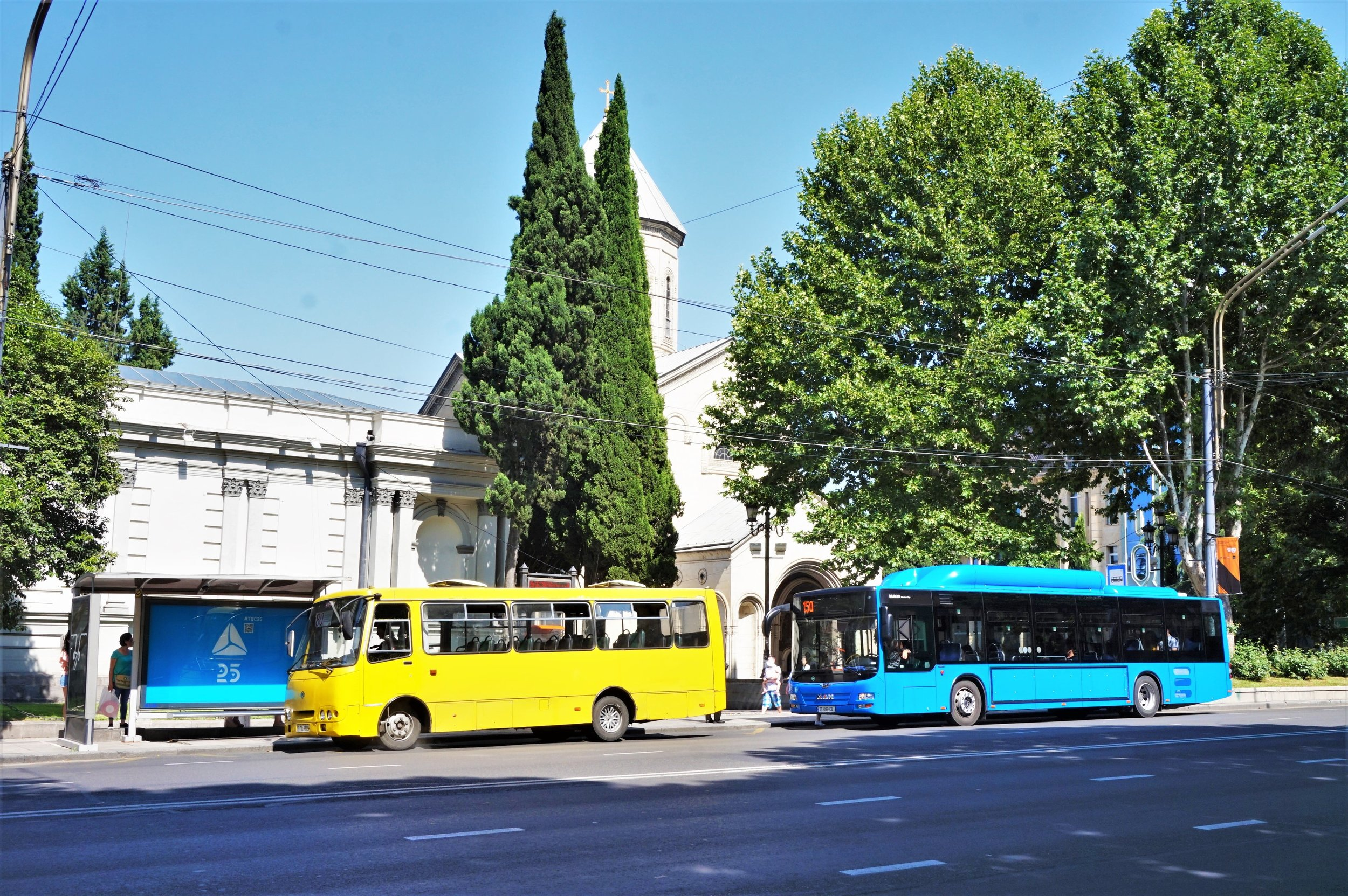 Plenty of bus lines make the Tbilisi public transport very sufficient and easy to reach even further away places of interest.
