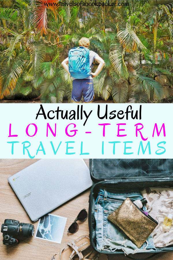 Read our list of items for long-term travel that are actually useful and necessary! Tried and tested in over 30 countries these travel accessories should be on your list for round-the-world and long-term trips. #travel #travelitems #longtermtravel #aroundtheworld #travelaccessories #travelgear