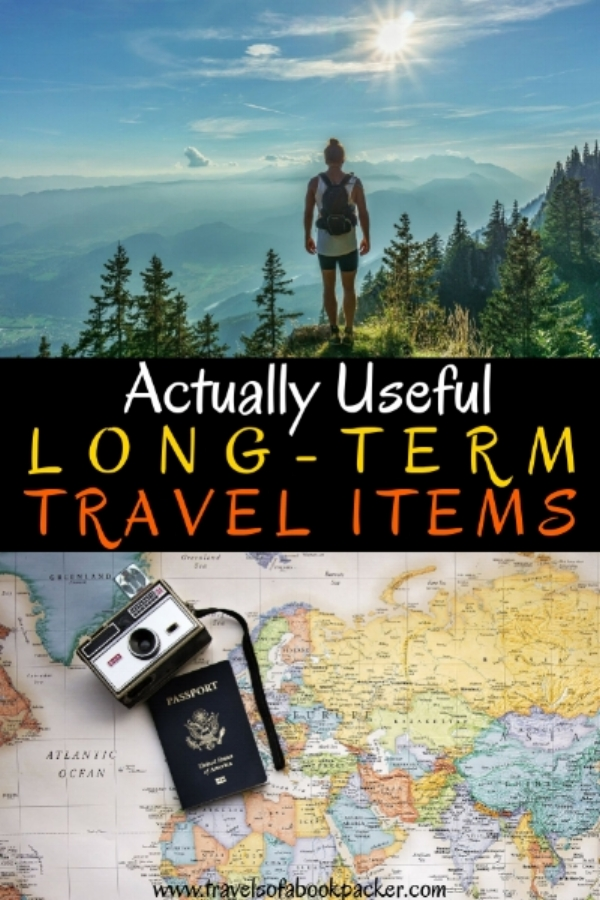 Are you planning to travel long-term? Check out this list of long-term travel items that are actually useful and necessary. Tried and tested in over 20 countries, these travel items should be in your bag for round-the-world and long-term trips. Useful travel items // long-term travel items // travel gear // necessary travel gadgets // actually useful travel items // #longtermtravel #travelitems #travelgear #musthavetravelitems #travelaccessories #usefultravelitems #travel