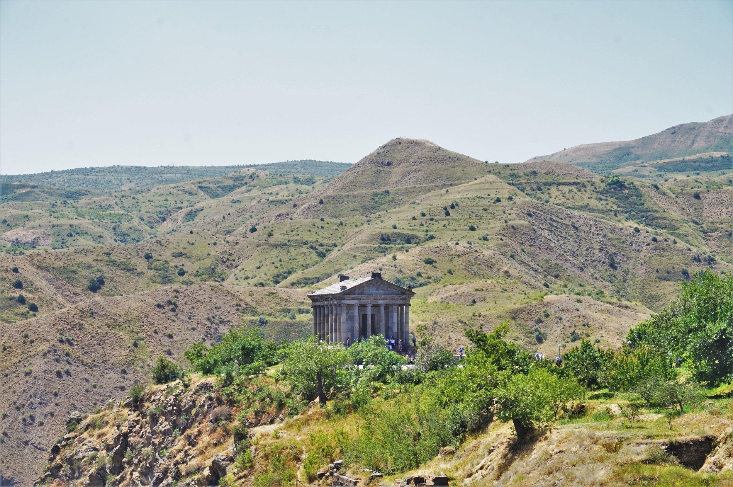 Visit the Garni Temple near Yerevan, Armenia.