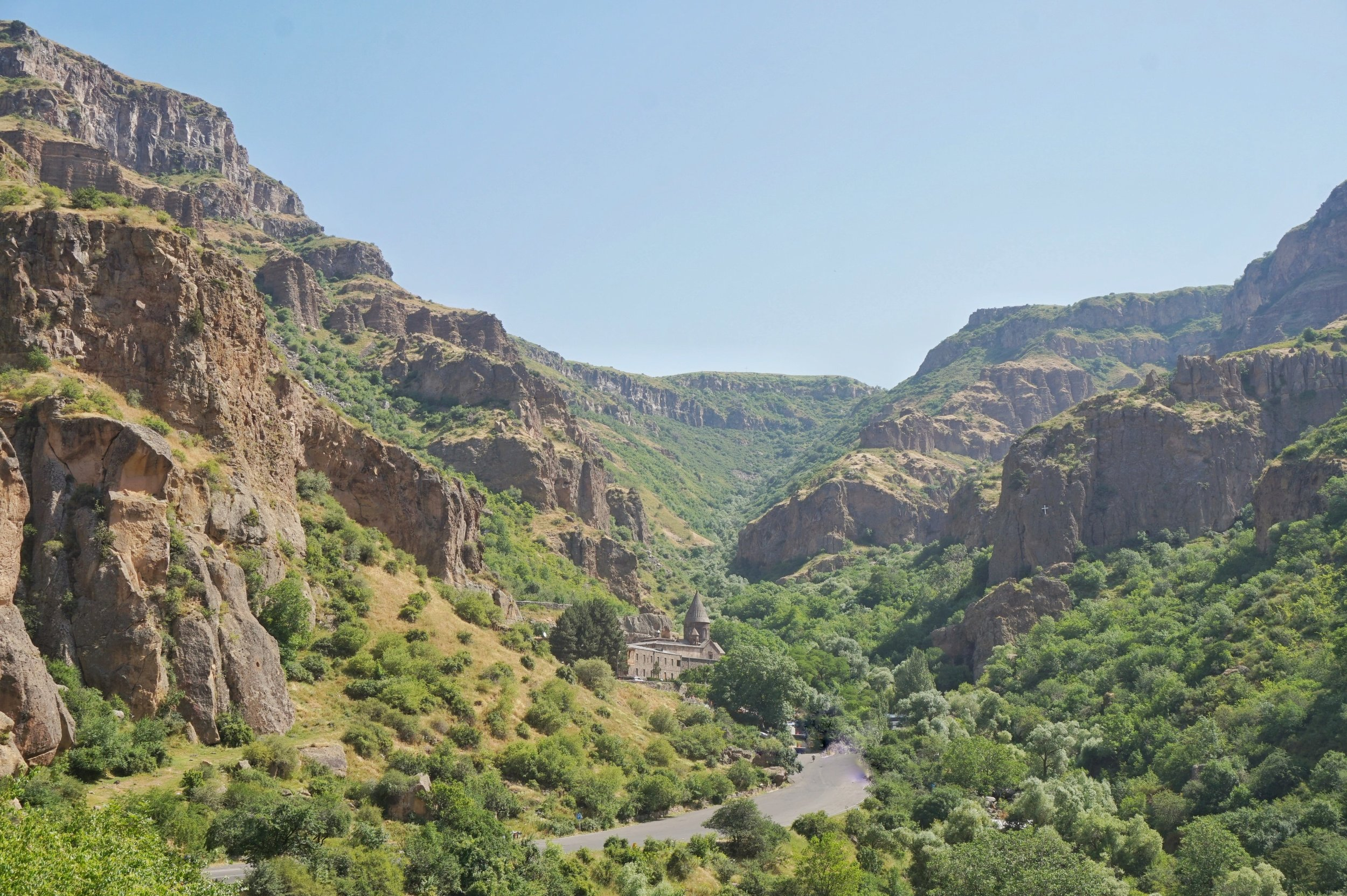 One of the best things to do in Armenia is to visit the beautiful valley with the Geghard Monastery.