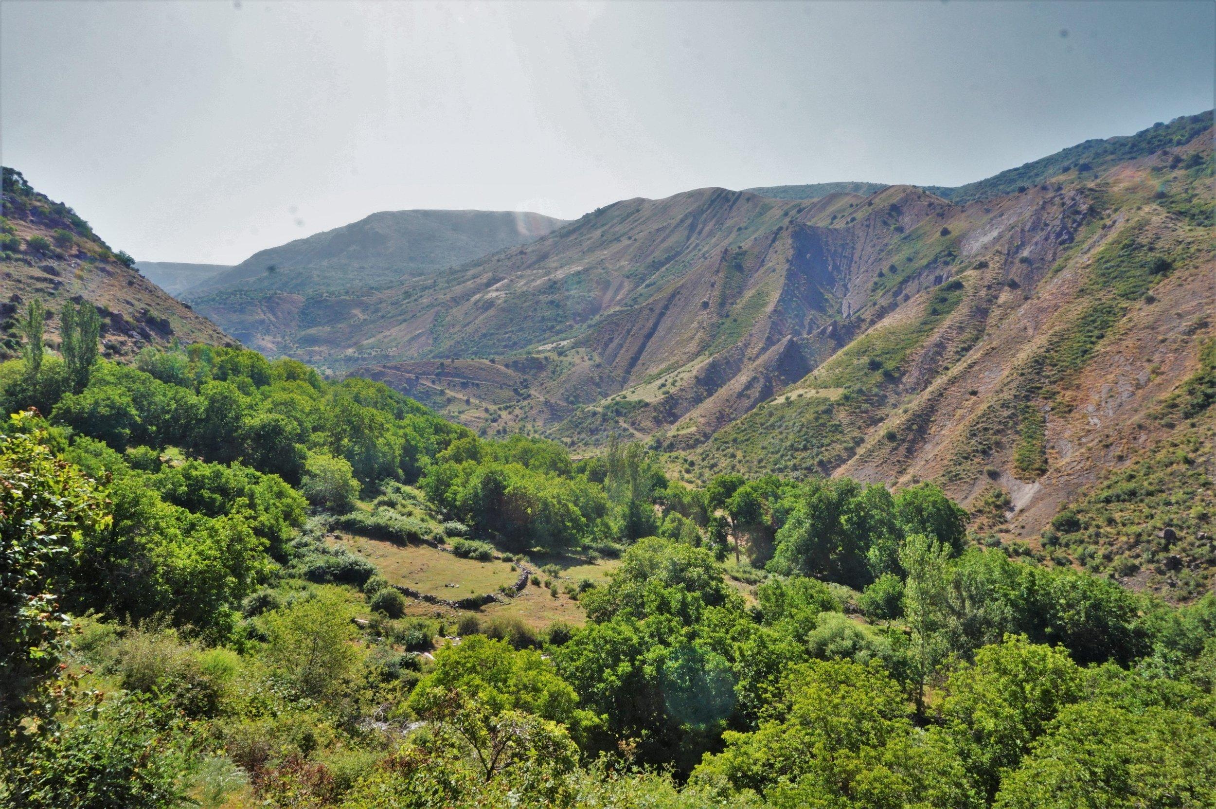 Beautiful views on a visit to Garni and Geghard.