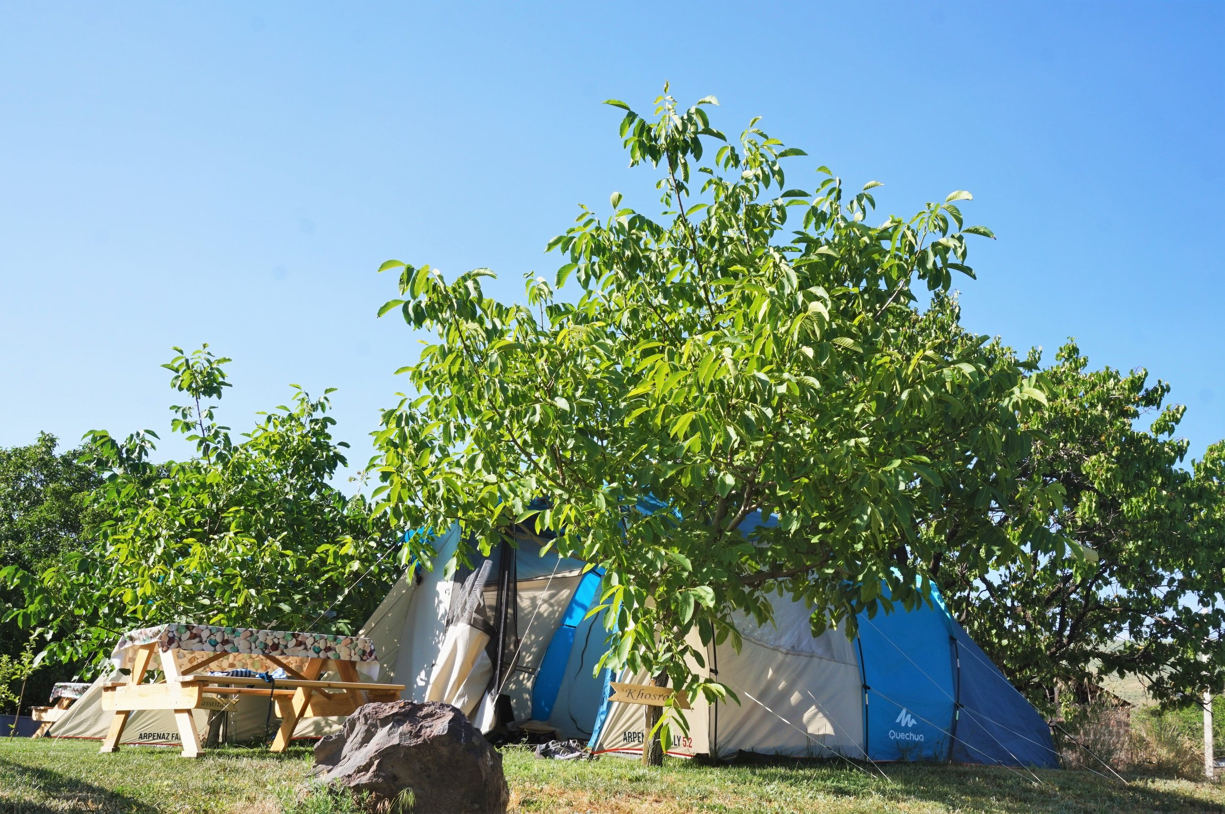 Campground in Gokht. Make it your base when you explore Garni and Geghard.