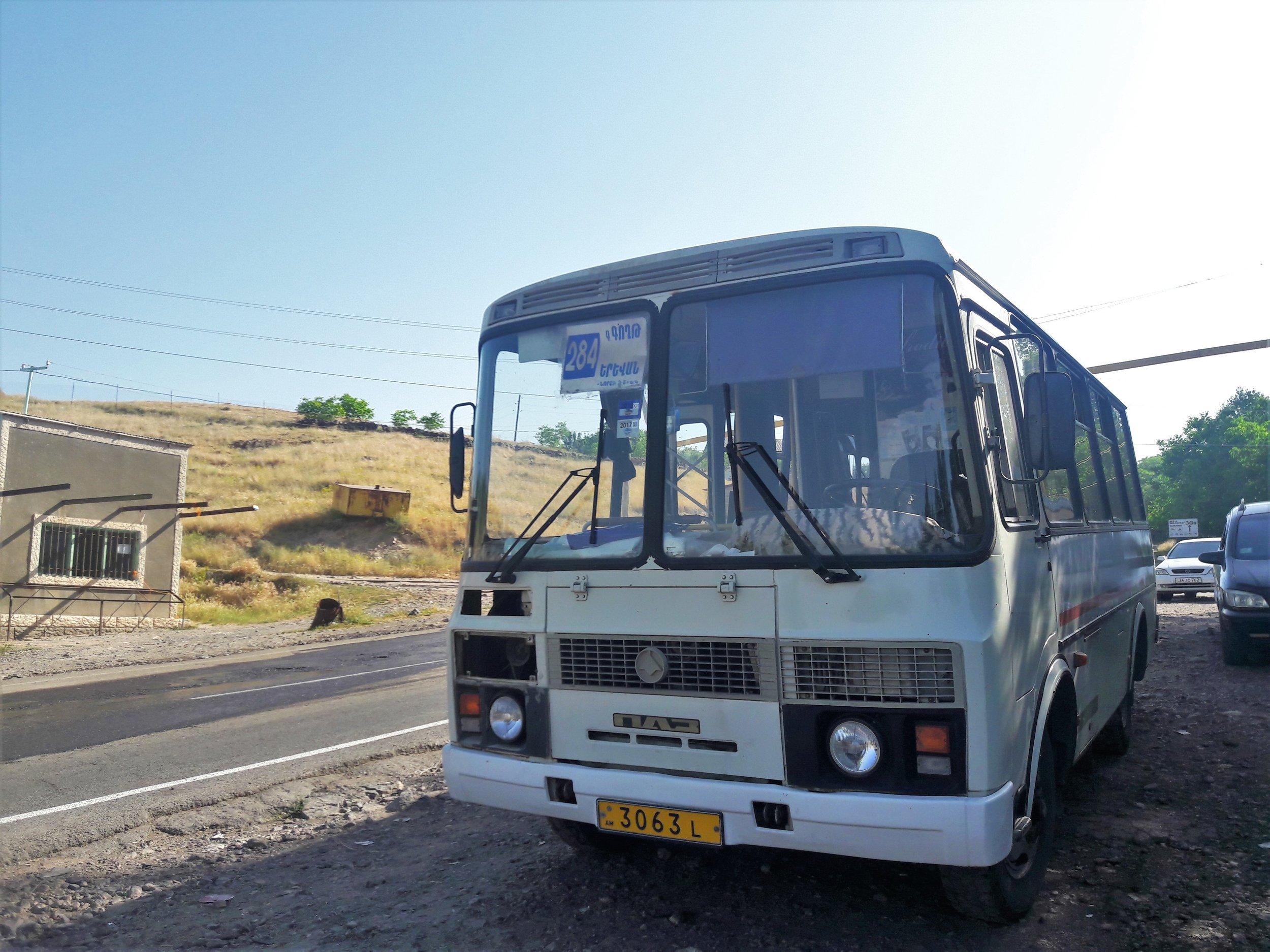 Public transport from Yerevan. Travel to Garni and Geghard.