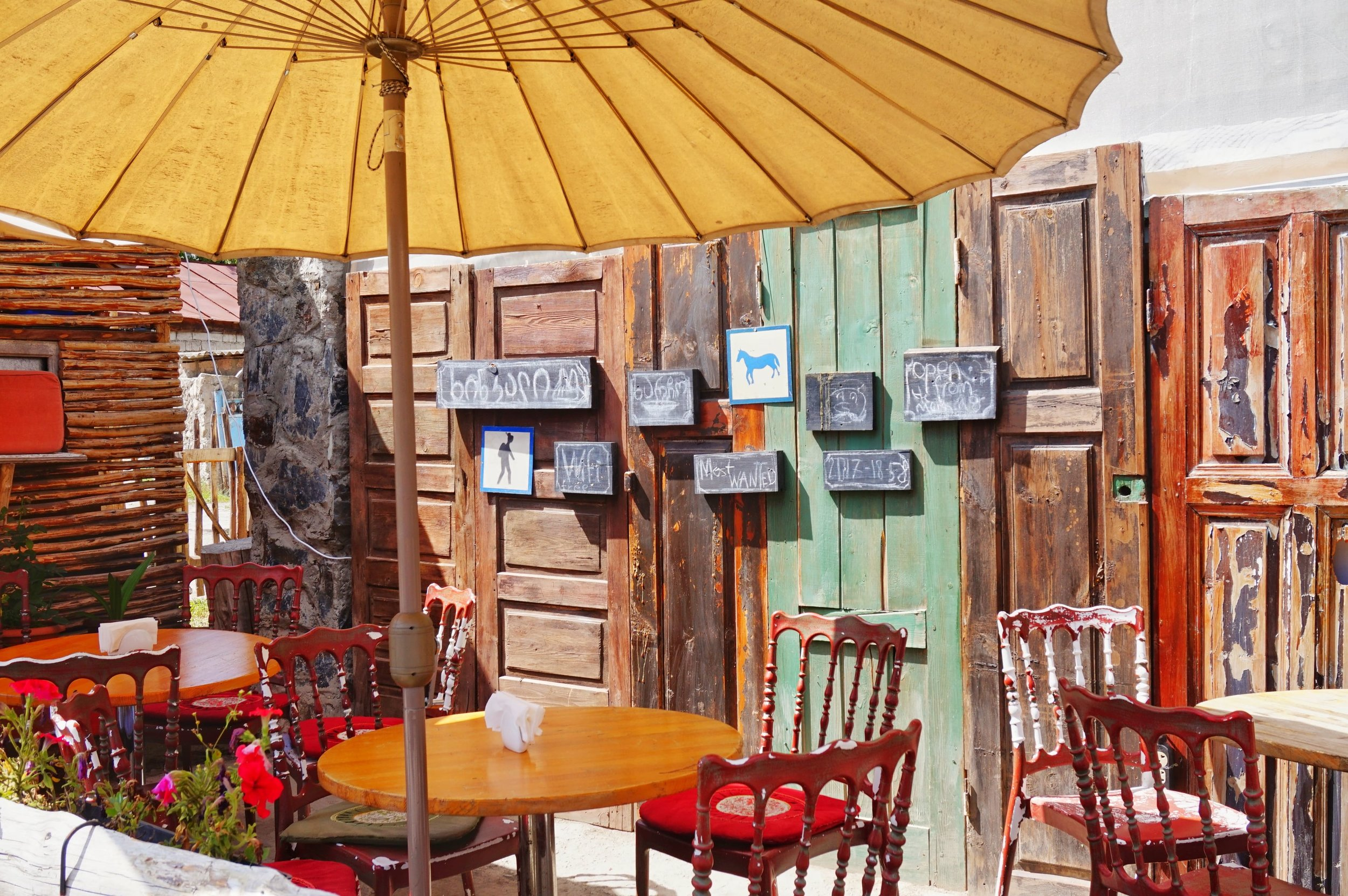 Great cafes to hang out in Mestia.