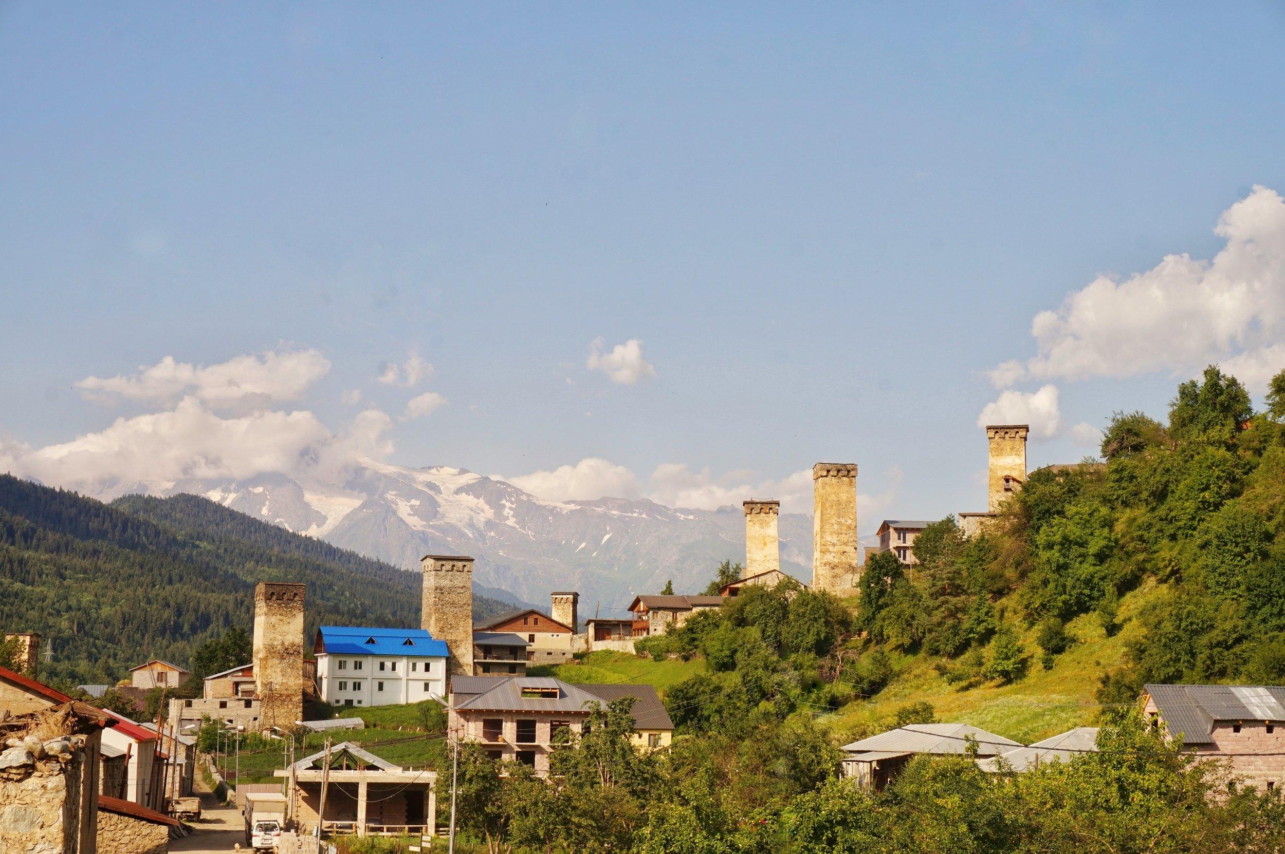 The beautiful towers of Mestia, Georgia.