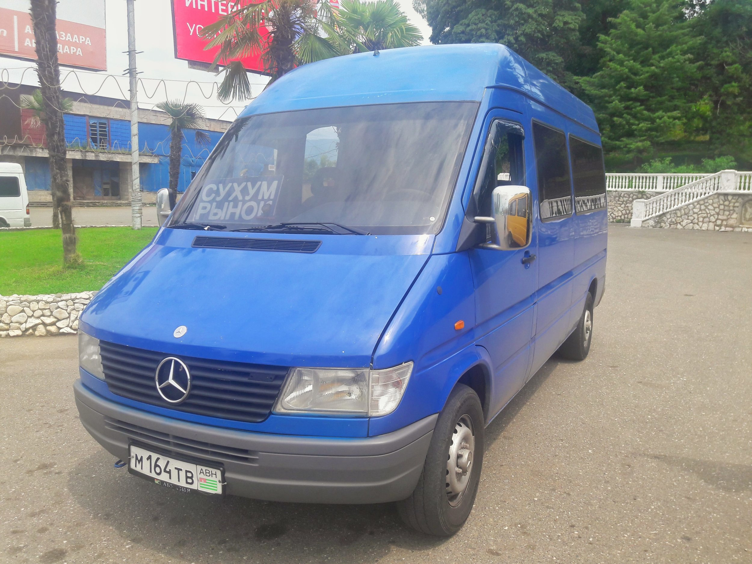 Minivans will be your choice of public transport when you travel to Abkhazia.