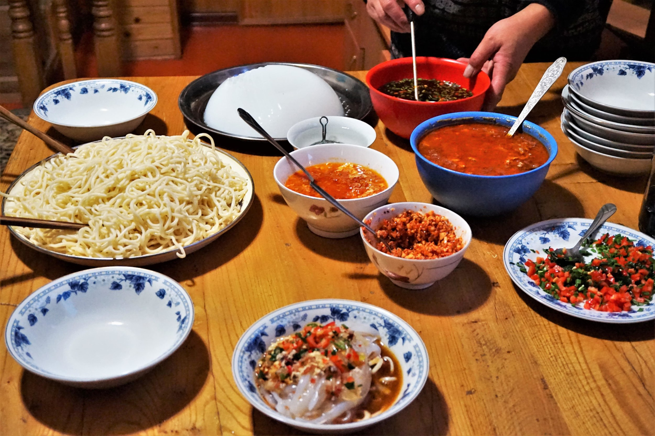Ashlanfu is a traditional dish and a must try thing in Kyrgyzstan. Awesome things to do in Kyrgyzstan