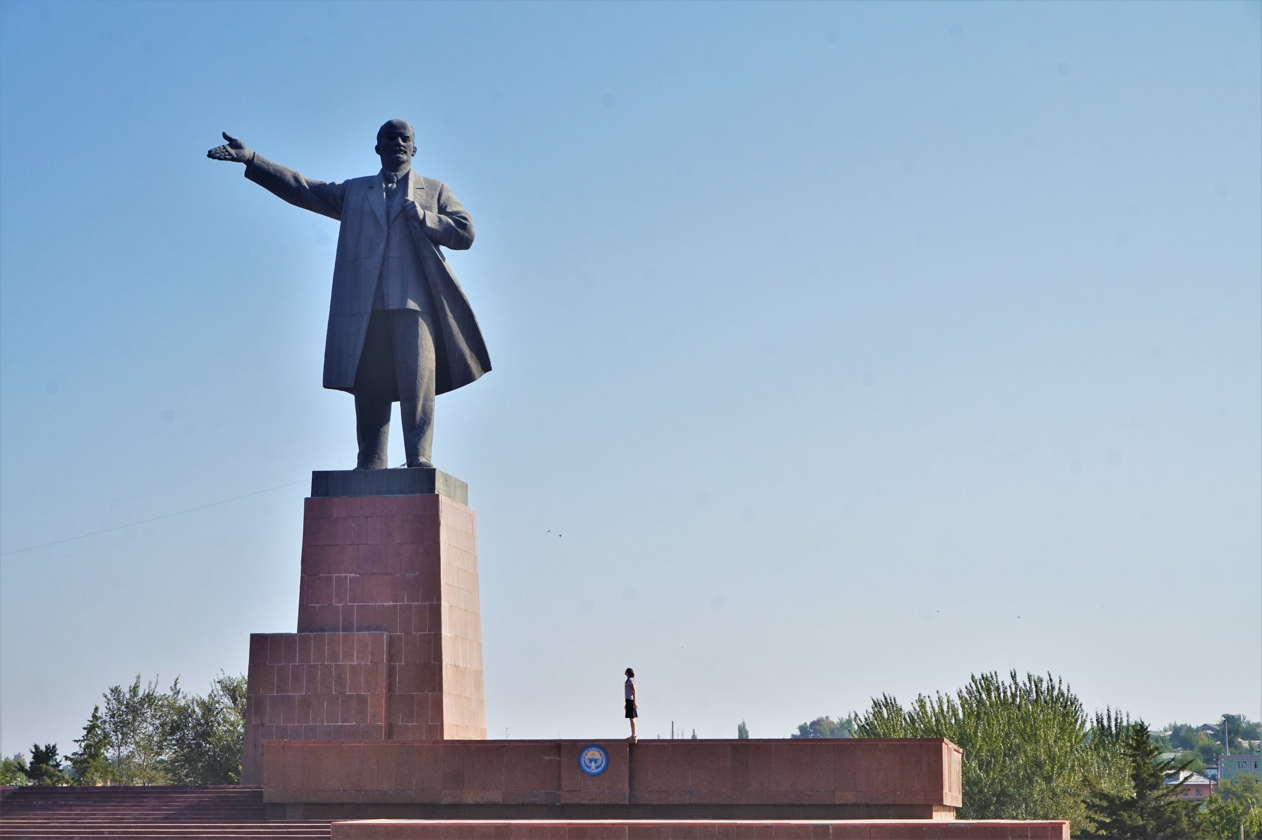The biggest Lenin statue in Central Asia in Osh is one of the most awesome things to do in Kyrgyzstan.