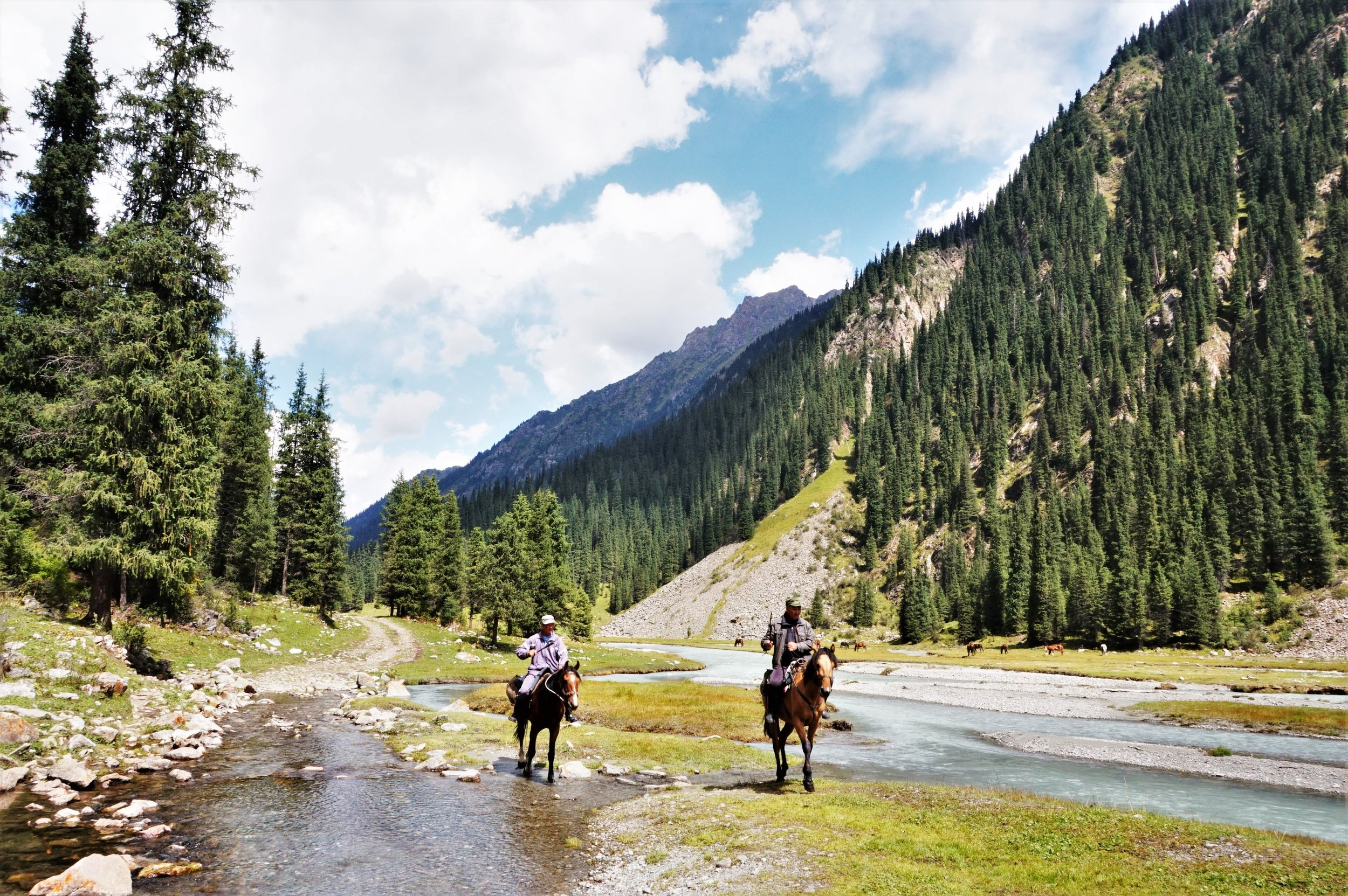Horse trekking is an awesome things to do in Kyrgyzstan!