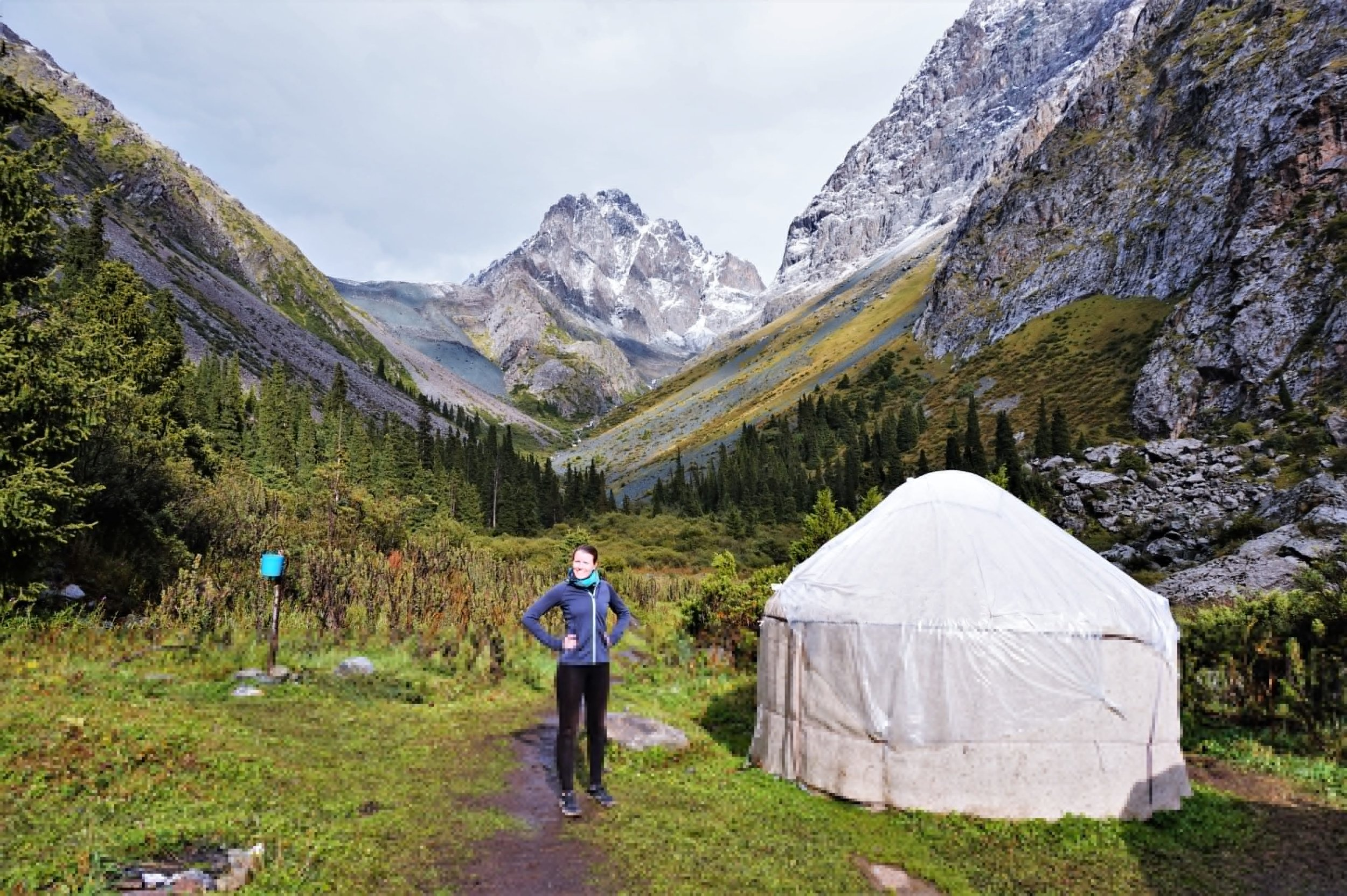 The Ala Kul trek is easily possible without a tent, there are yurt camps along the way. The kike to Ala Kul is one of the best hikes in Kyrgyzstan!
