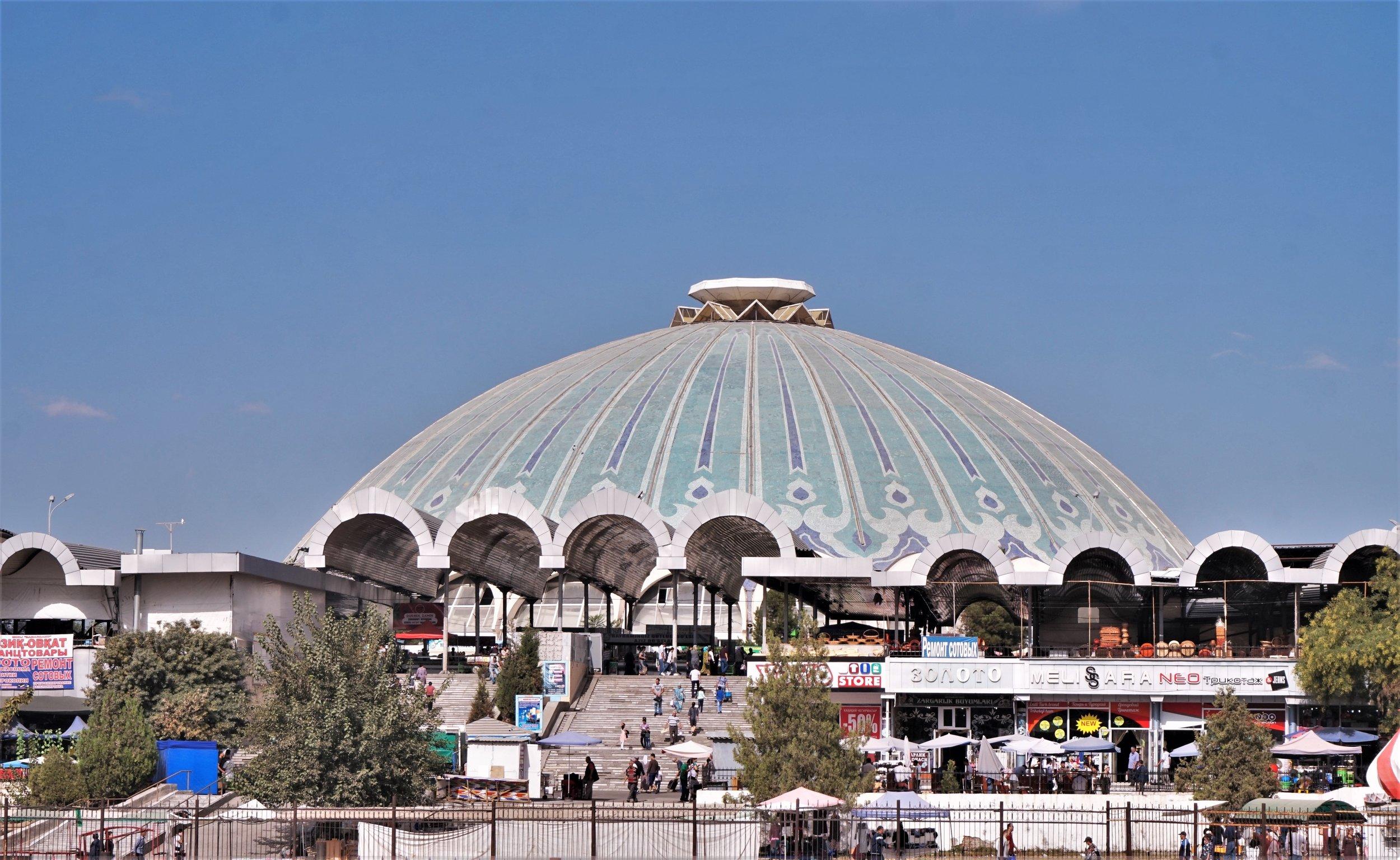 Visit the Chorsu Bazaar is one of the best things to do in Tashkent, Uzbekistan.