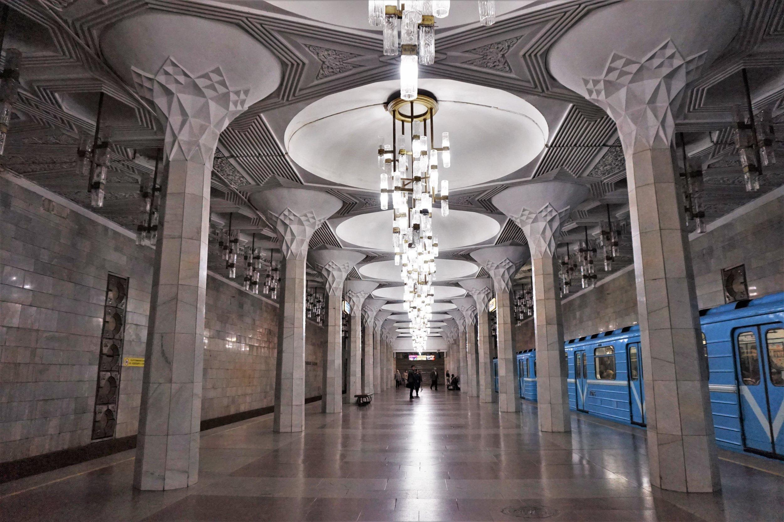 Metro stations Tashkent, Uzbekistan