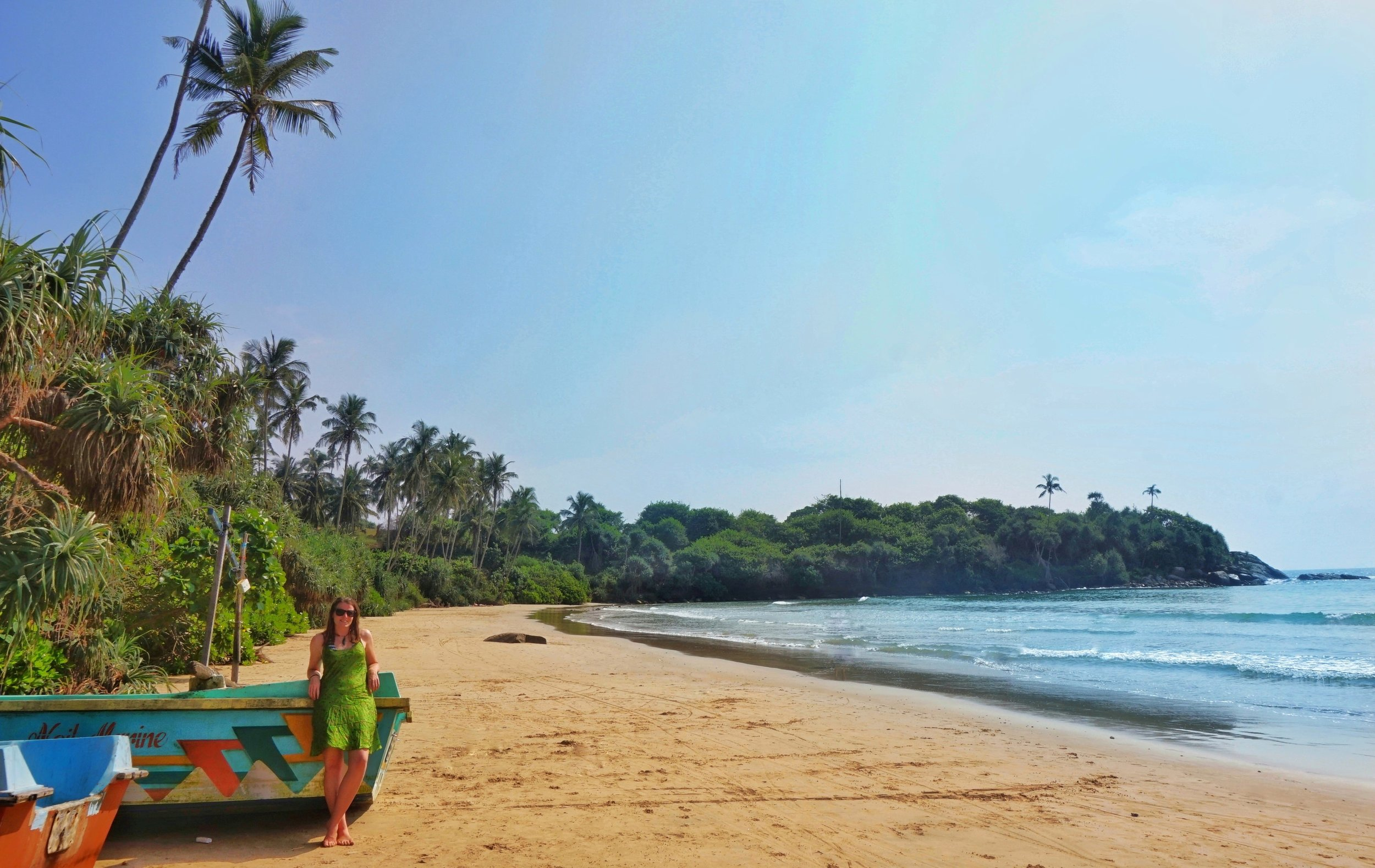 We were very happy with our Sri Lankan beach choice!
