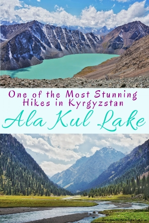 Read our guide about everything you need to know for the Ala-Kul Lake trek without a guide, tent or sleeping bag. Route and tips for this stunning three day hike in Kyrgyzstan. #travel #hike #hiking #trek #trekking #kyrgyzstan #karakol #centralasia #alakul #alakullake