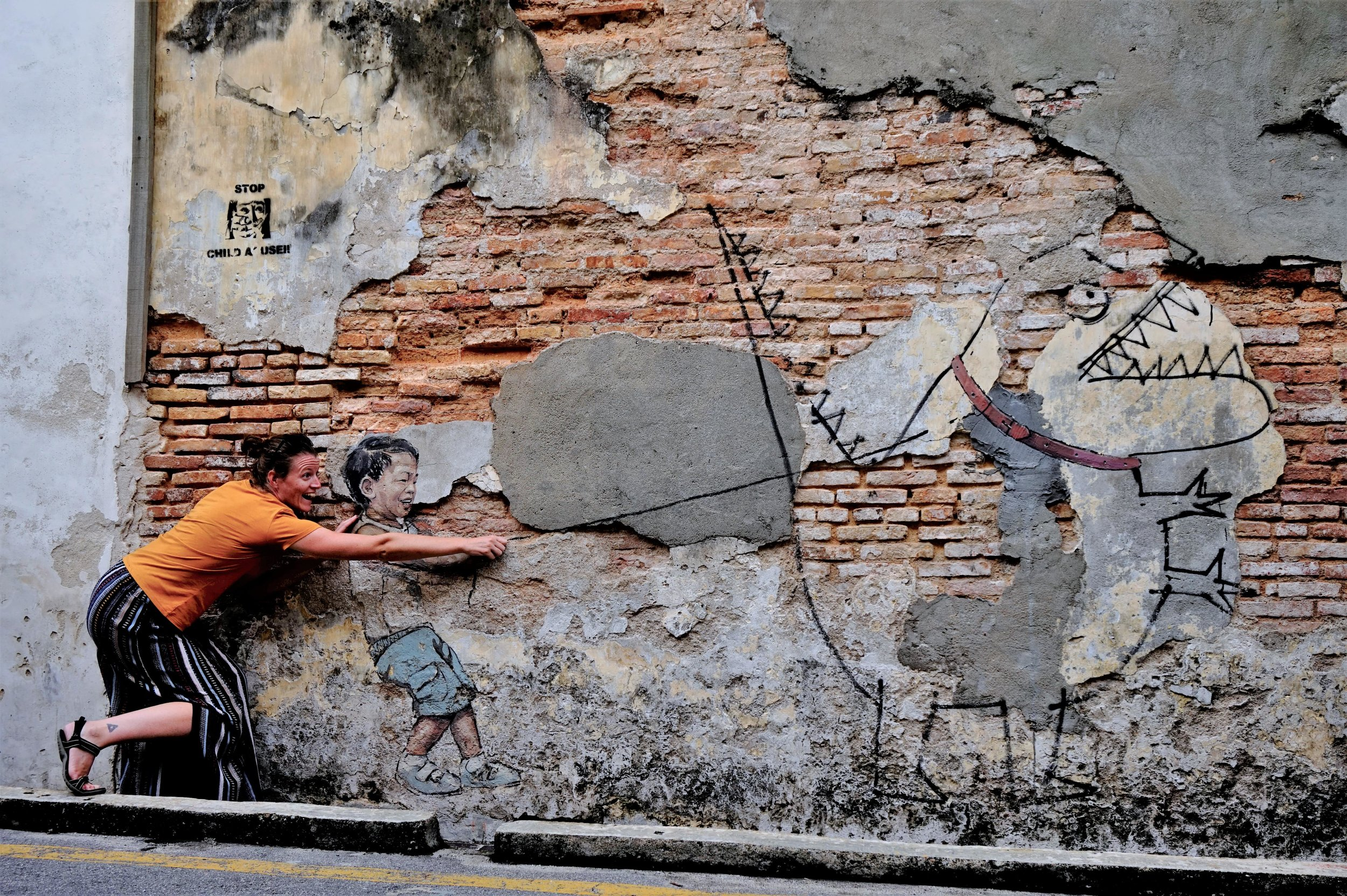 Seeing the street art is one of the best things to do in Penang! Street art is going to be a big part of your 3 day Penang itinerary.