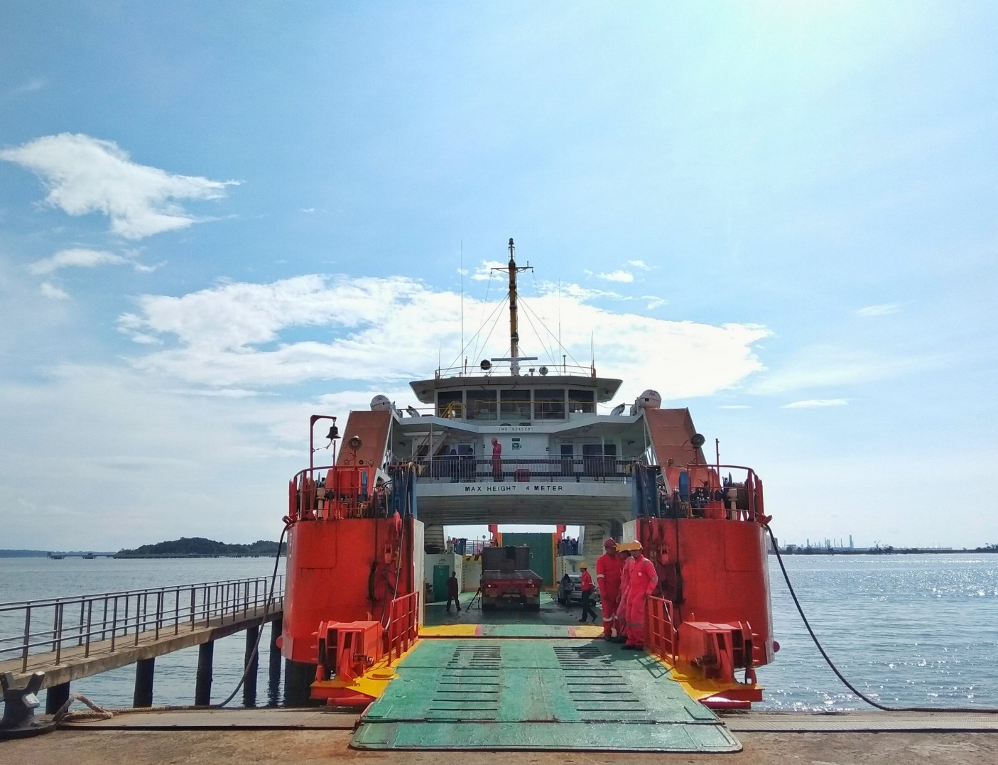 The ferry is the first step on your way from Brunei to Kota Kinabalu.
