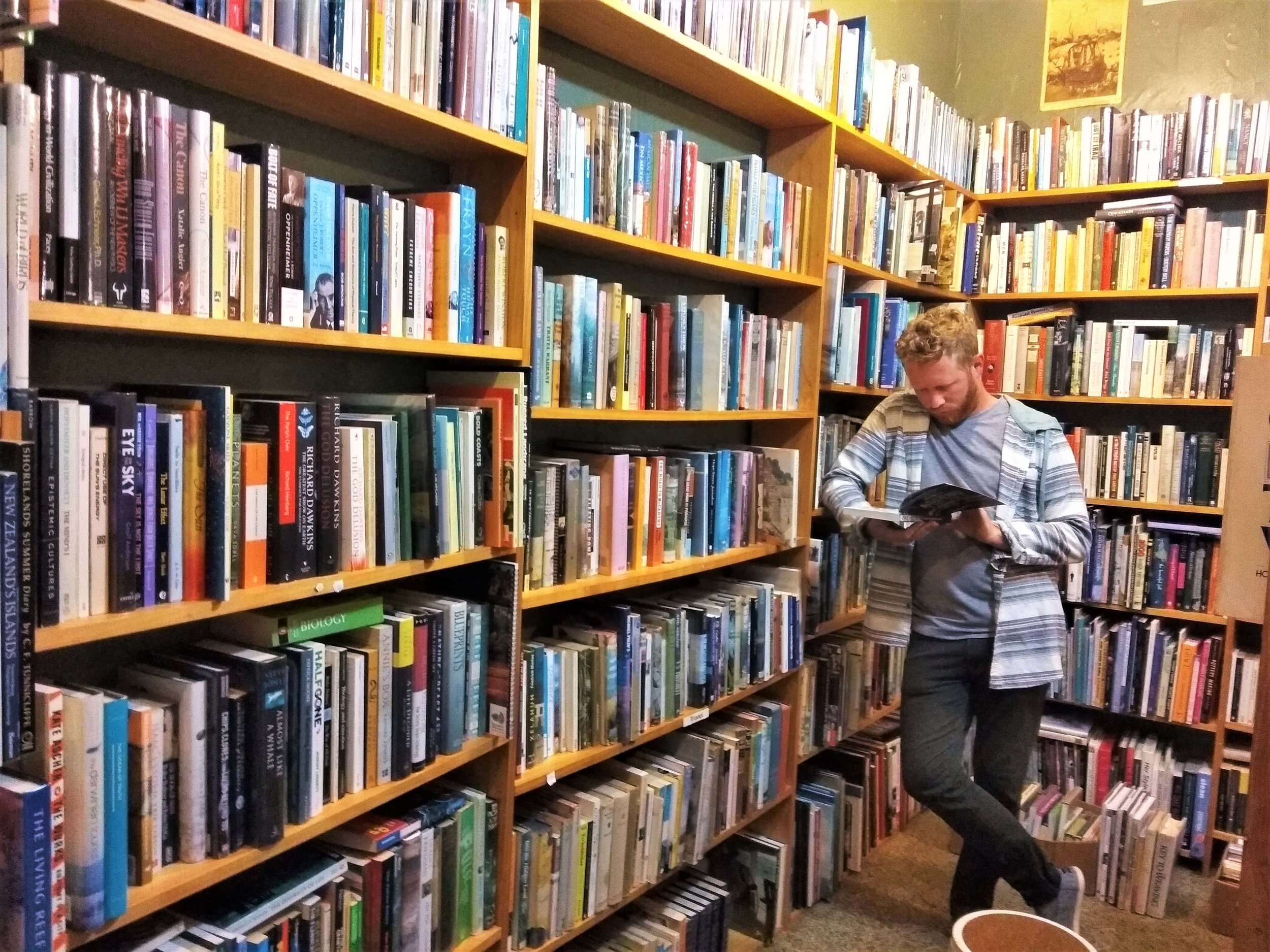 A Book Lover's Guide to the South Island, New Zealand. Must see if you like a good second hand book store.