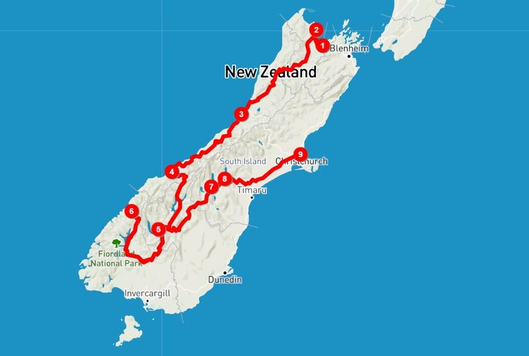 New Zealand Route Map.Choose Your Perfect South Island Road Trip Itinerary 4 Routes With