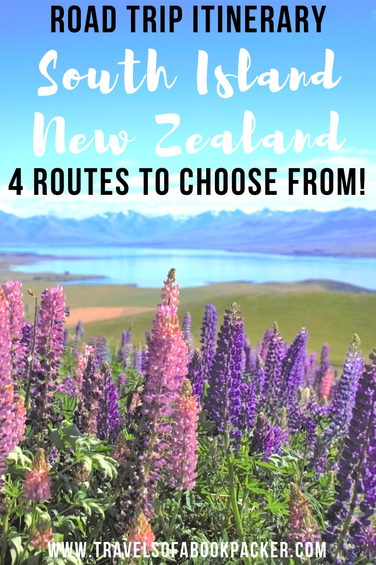 Looking for the best route for your South Island road trip? This post has four great options for you to choose from and create your perfect South Island road trip itinerary for New Zealand. #newzealand #itinerary #southisland #travel #roadtrip