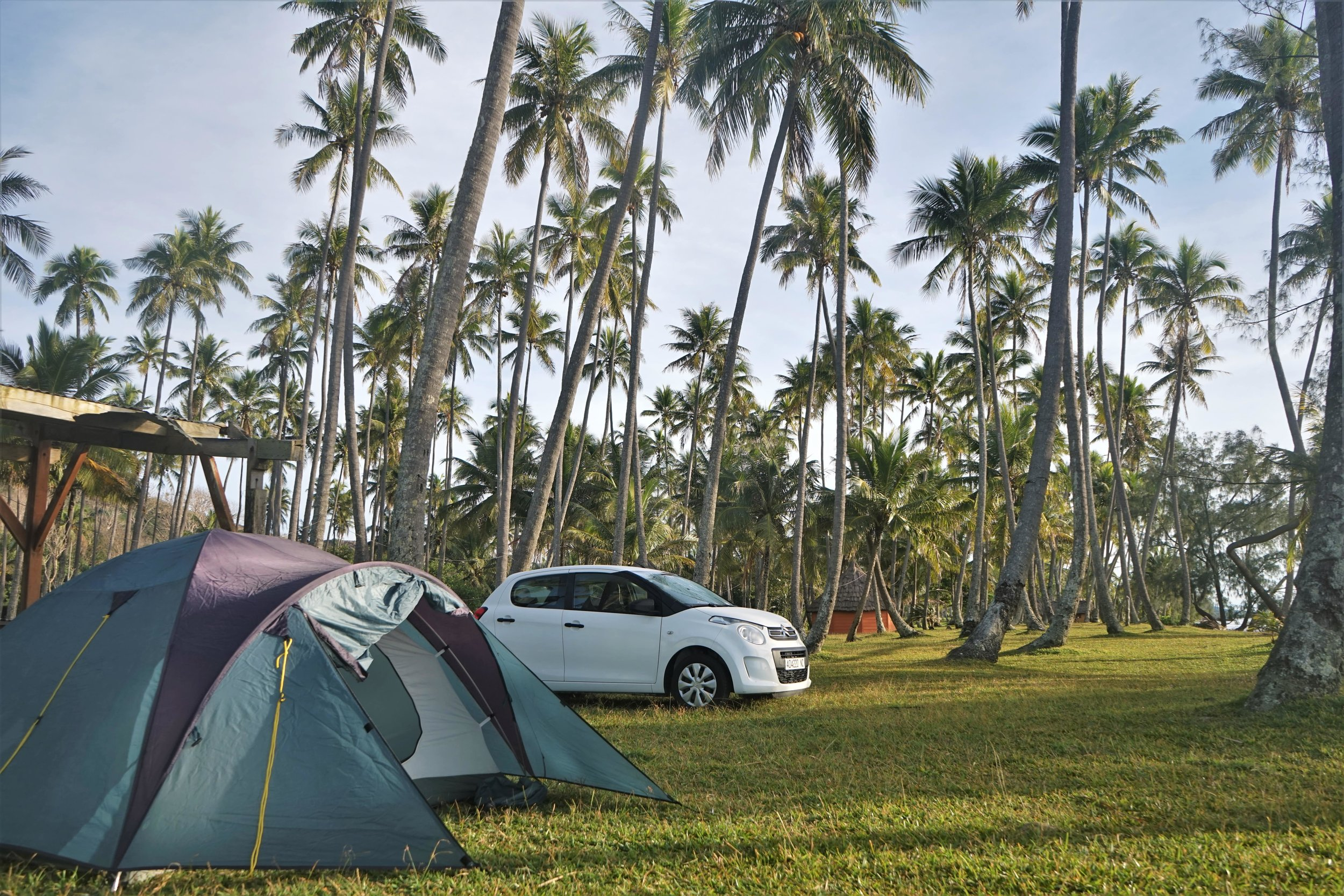 Camping in new Caledonia is one of our best New Caledonia travel tips.