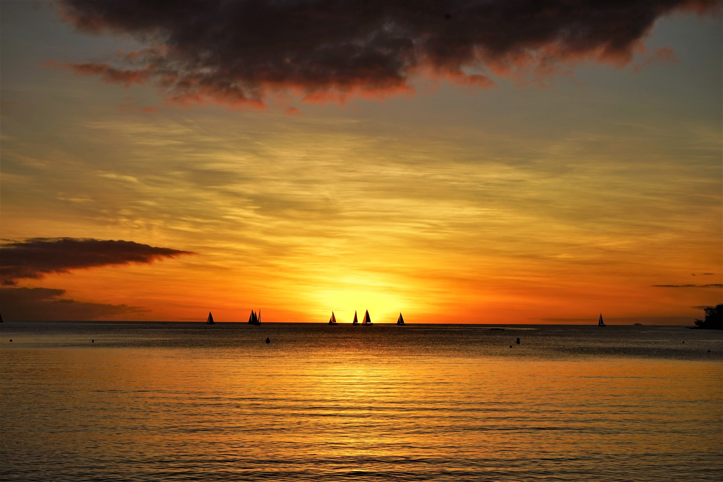Beautiful sun set at the waterfront in Noumea is a must see on your New Caledonia trip.