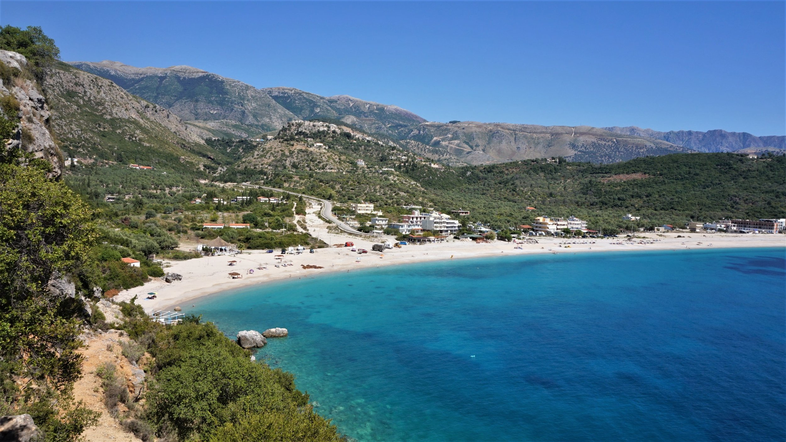 The Albanian rivera is the best spot for wild camping albania.