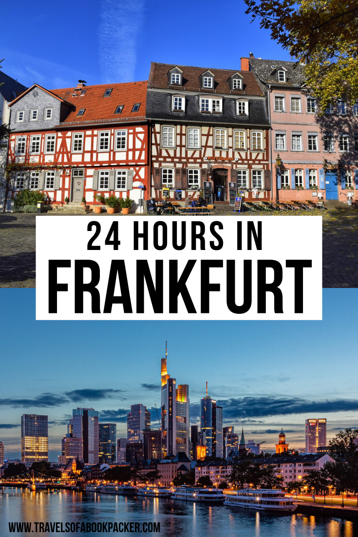 This is a detailed itinerary for 24-hours in Frankfurt if you happen to have a layover or are stopping on your way through. One day in Frankfurt is enough to see lots of the city and do some cool things. #frankfurtammain #germany #frankfurt #frankfurtgermany #frankfurt_de #frankfurtcity #frankfurtblogger #travelfrankfurt #travel #traveltips #layover #ffm #traveler #traveller #skyline #traveltipsforeveryone #travelguide #cityguide #germanytravel #main #blogger #travelblog