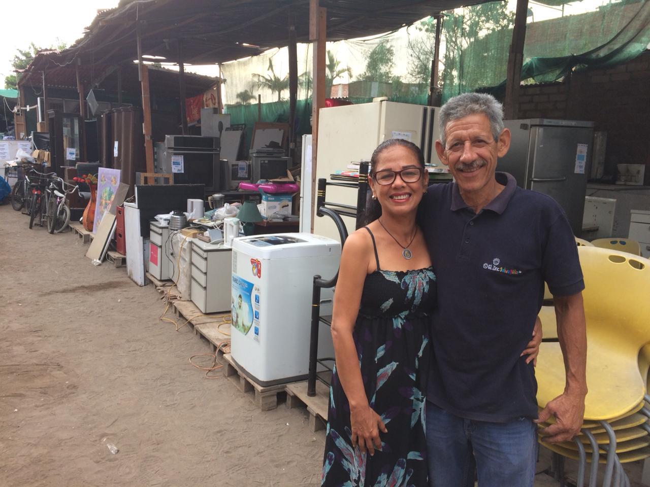 Lorena y su esposo