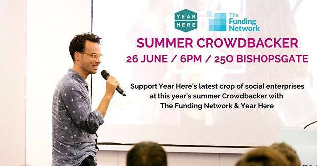 We're back for #Crowdbacker again next week! Join us and @yearhere to see what their next crop of ventures are!