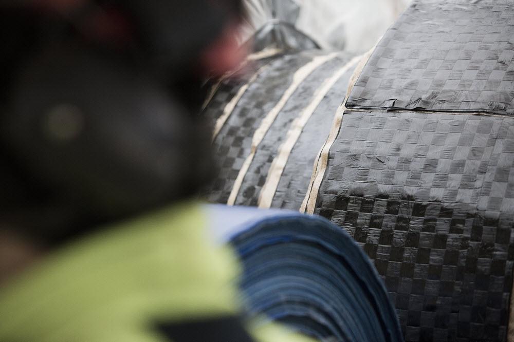PPR Liner består av kolfiber och en specialutvecklad epoxy för att tåla de höga trycken och temperaturerna i fjärrvärmenät.
