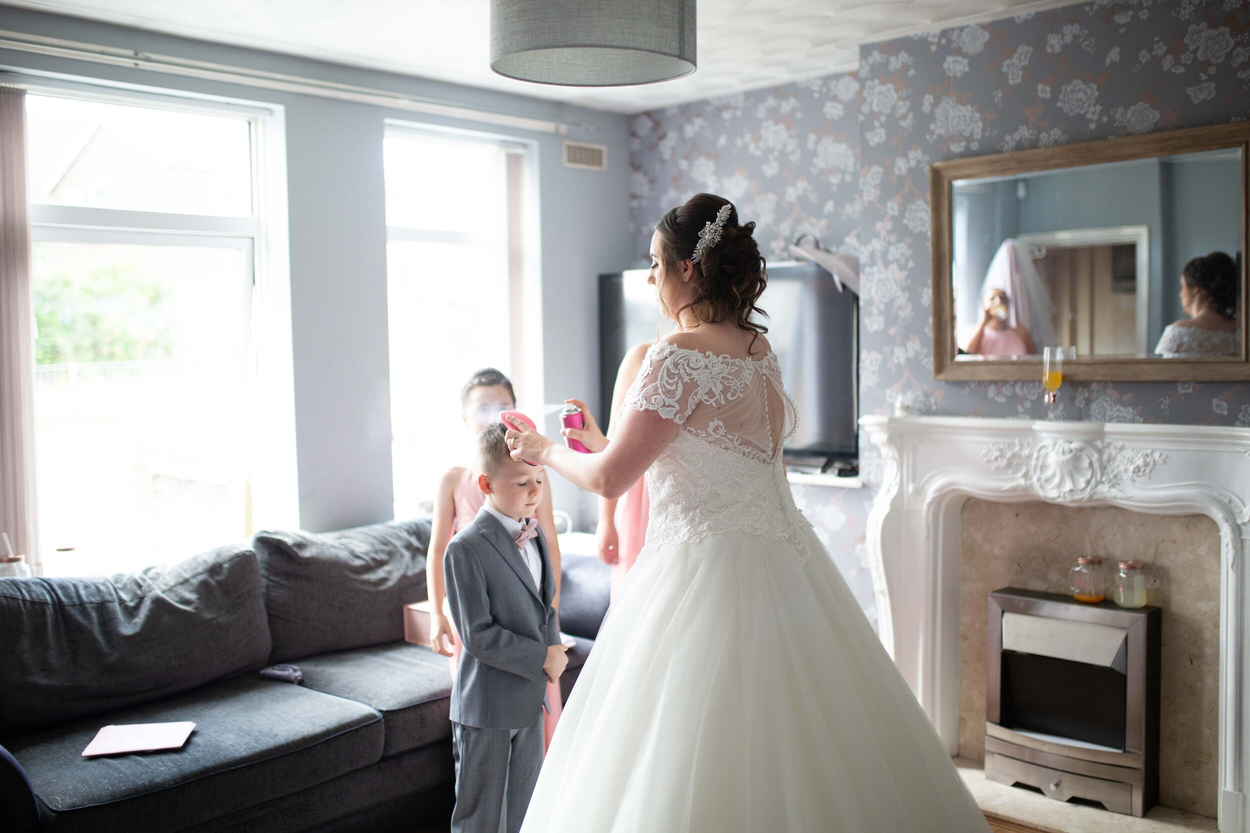 Lea Cooper photography - wedding photography - st Lawrence church dalaston West Midlands Willenhall Wednesday wedding photographer Brookfields club house cannock road - 8.JPG